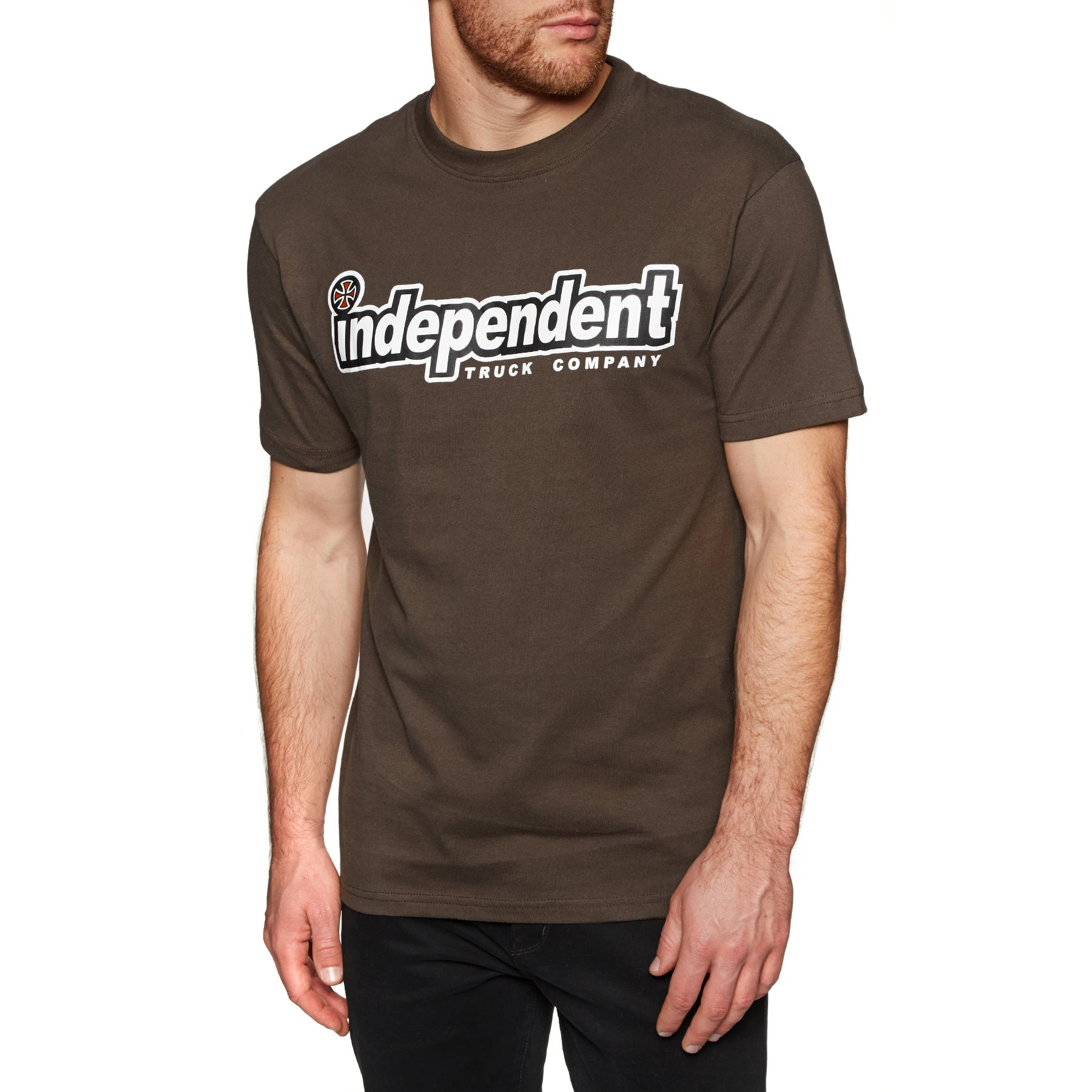 Independent Outline Short Sleeve T-Shirt - Dark Chocolate