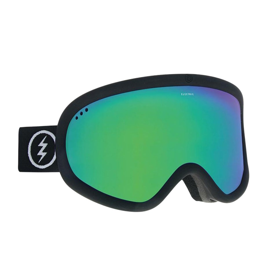 Electric Charger Xl Snow Goggles - Matte Black ~ Brose Green Chrome