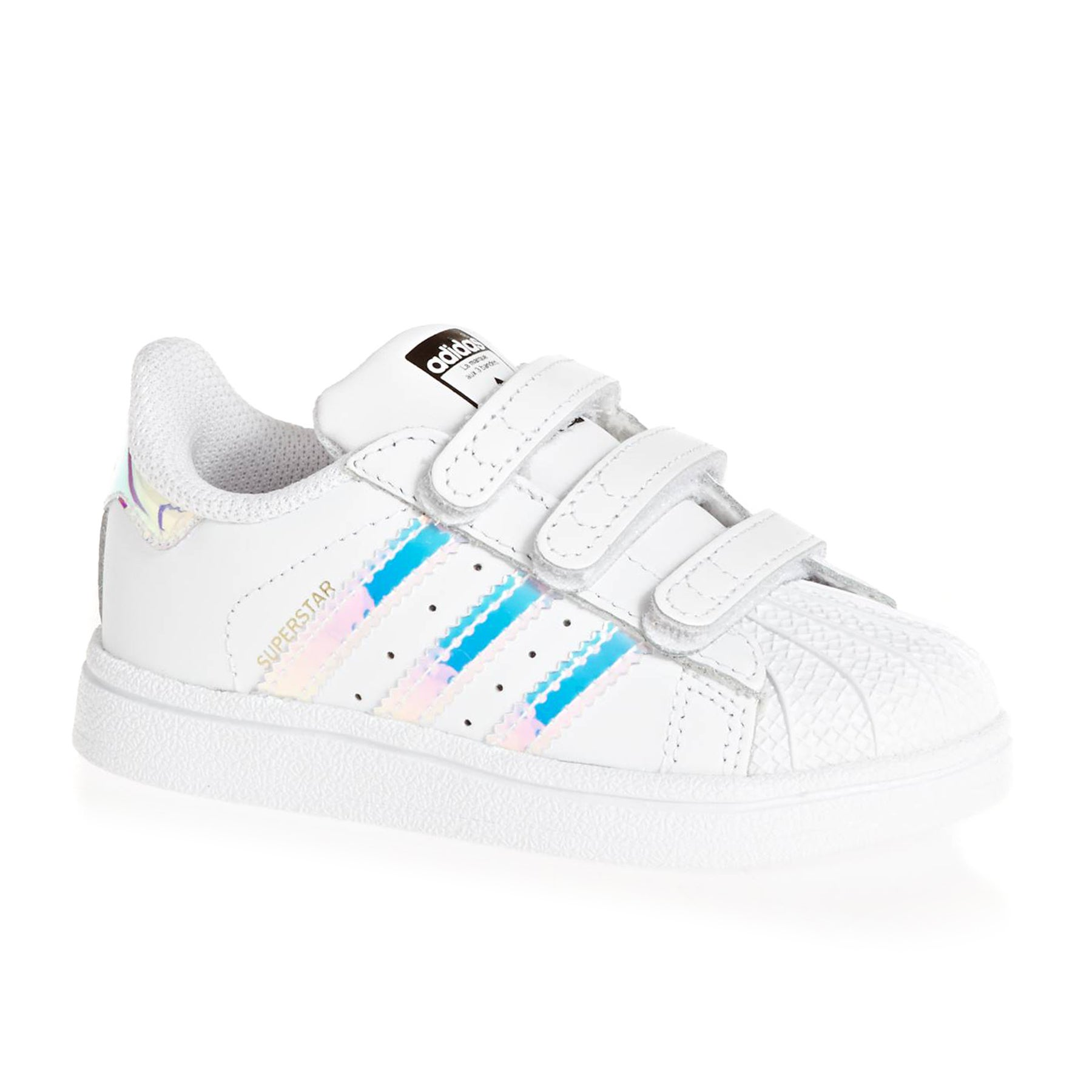 adidas superstar white metallic silver kinder