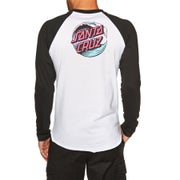 Santa Cruz Wave Dot Baseball Long Sleeve T-Shirt