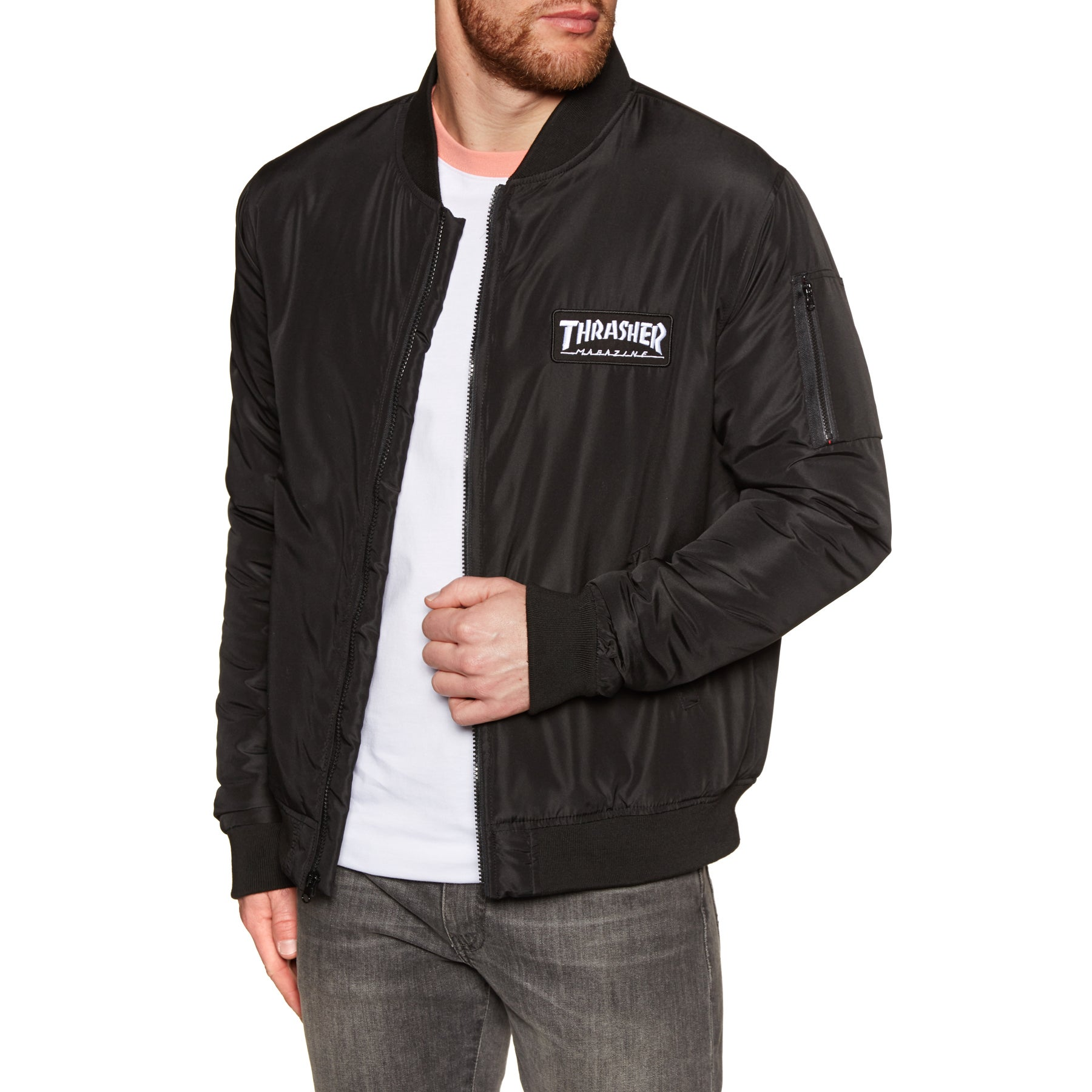 Thrasher Bomber Jacket - Black