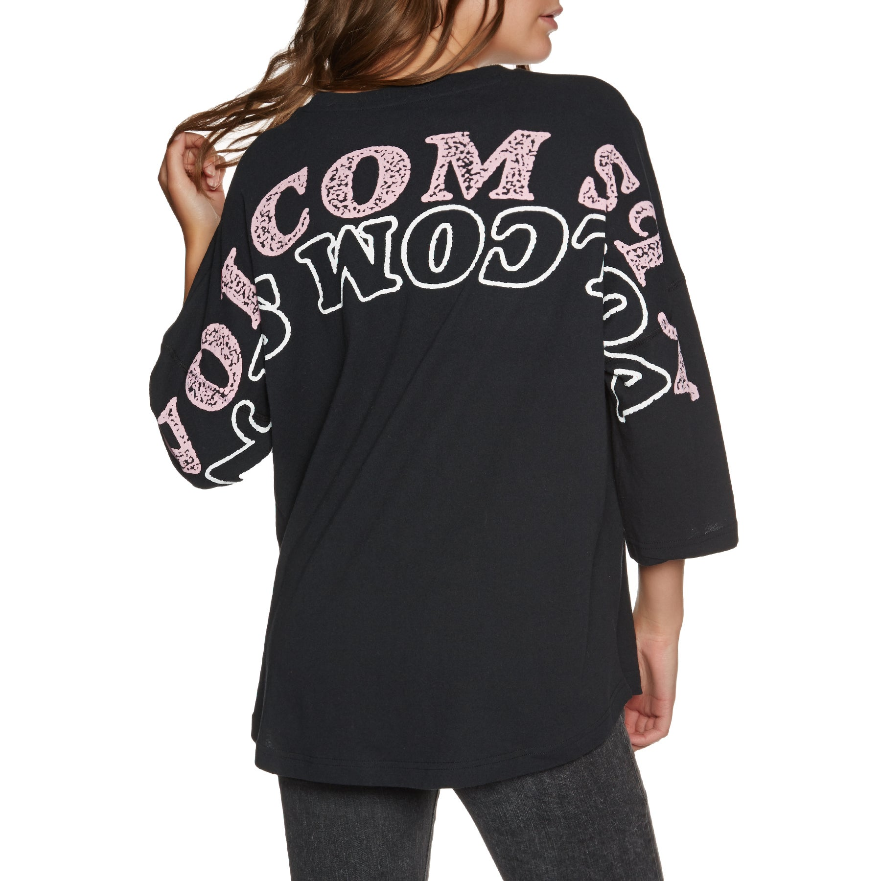 Volcom Back At It Womens Long Sleeve T-Shirt - Black