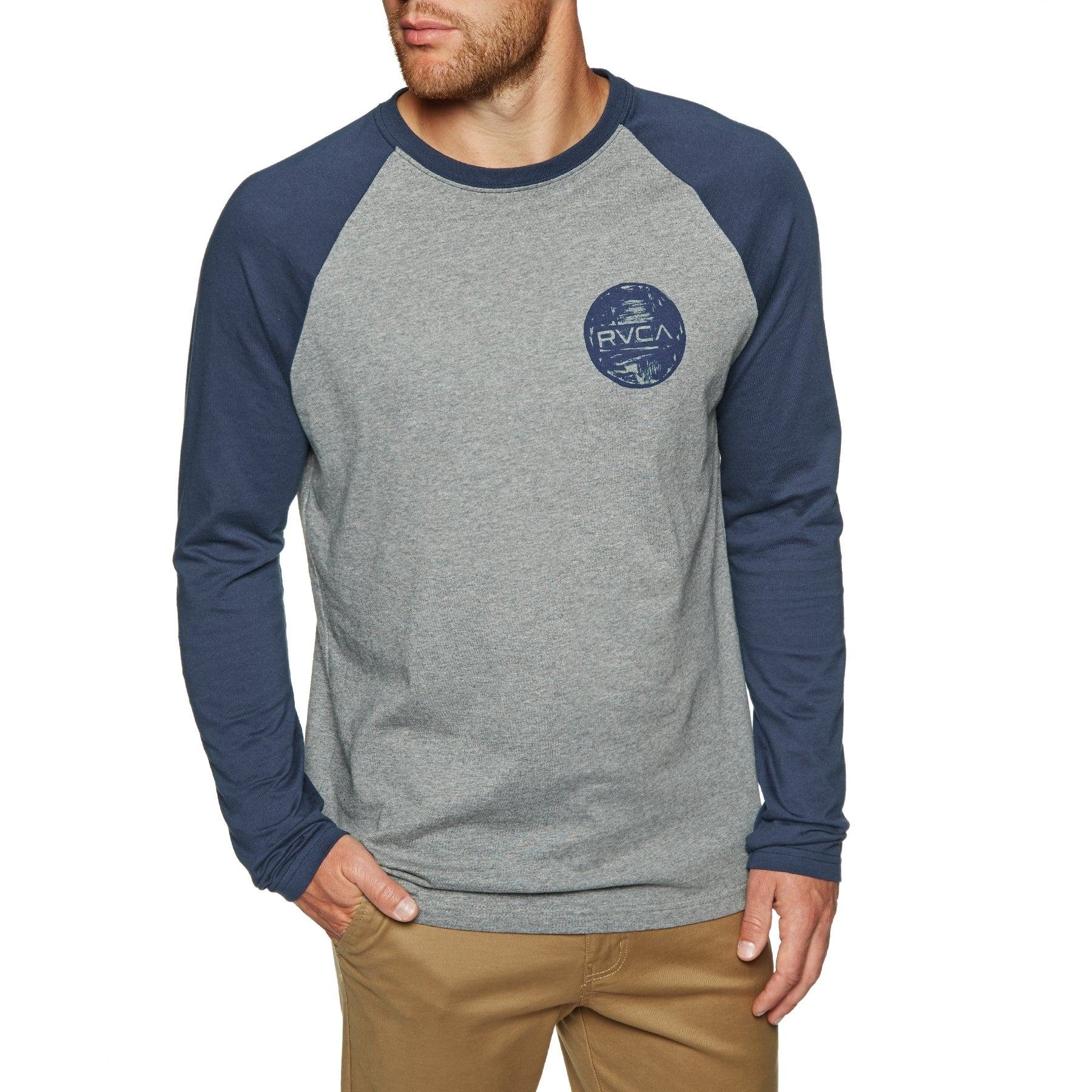 RVCA Motors Chest Long Sleeve T-Shirt - Athletic Heather