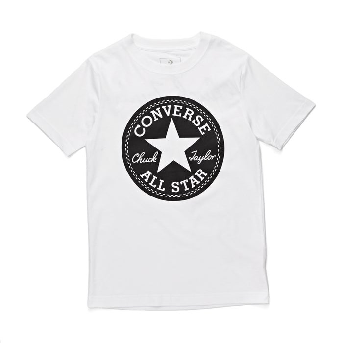 c76a2ed0ce1 Converse Chuck Taylor Script Boys Short Sleeve T-Shirt available from  Surfdome