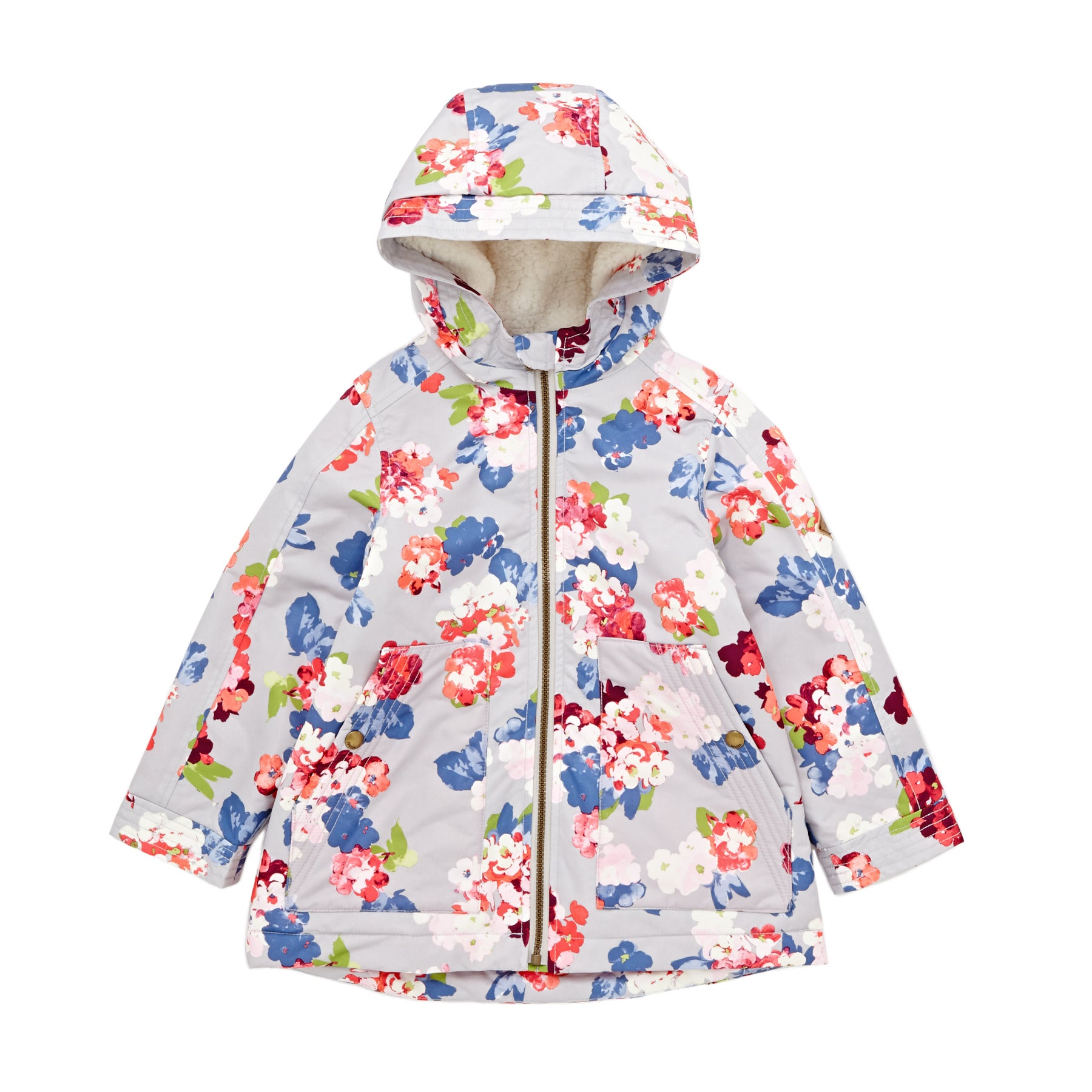 Chaqueta Girls Joules Utility Aop Waterfall - Bloomin Floral Glass
