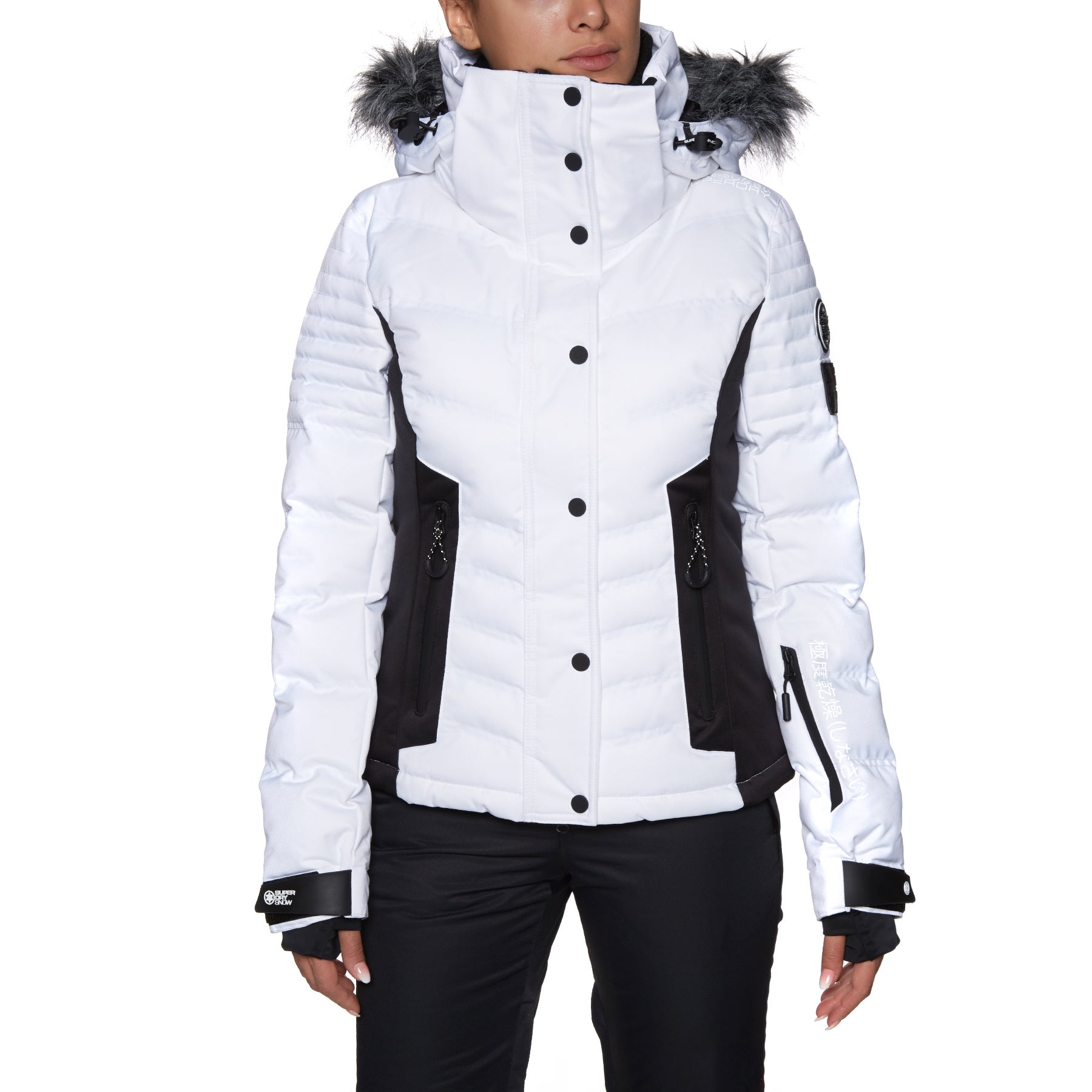 Superdry Luxe Snow Puffer Womens Snow Jacket - Optic