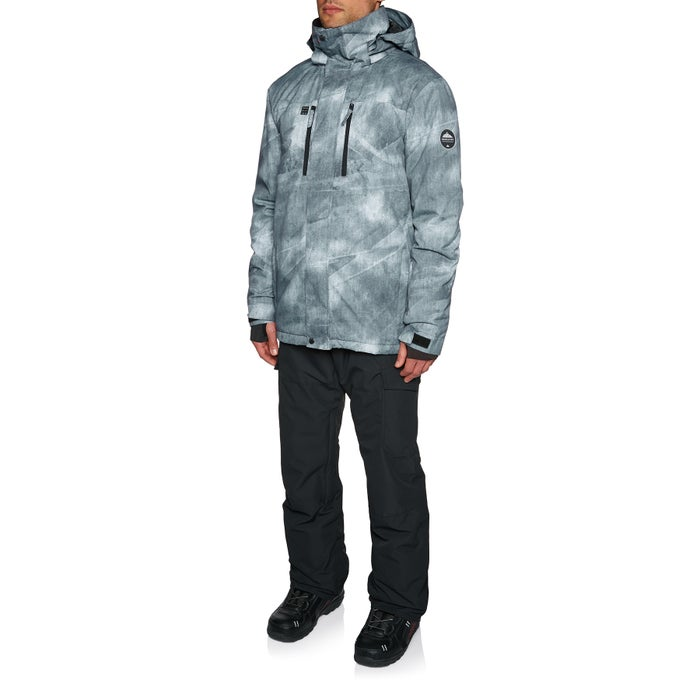 Quiksilver Mens Mission Printed Snow Jacket Available From