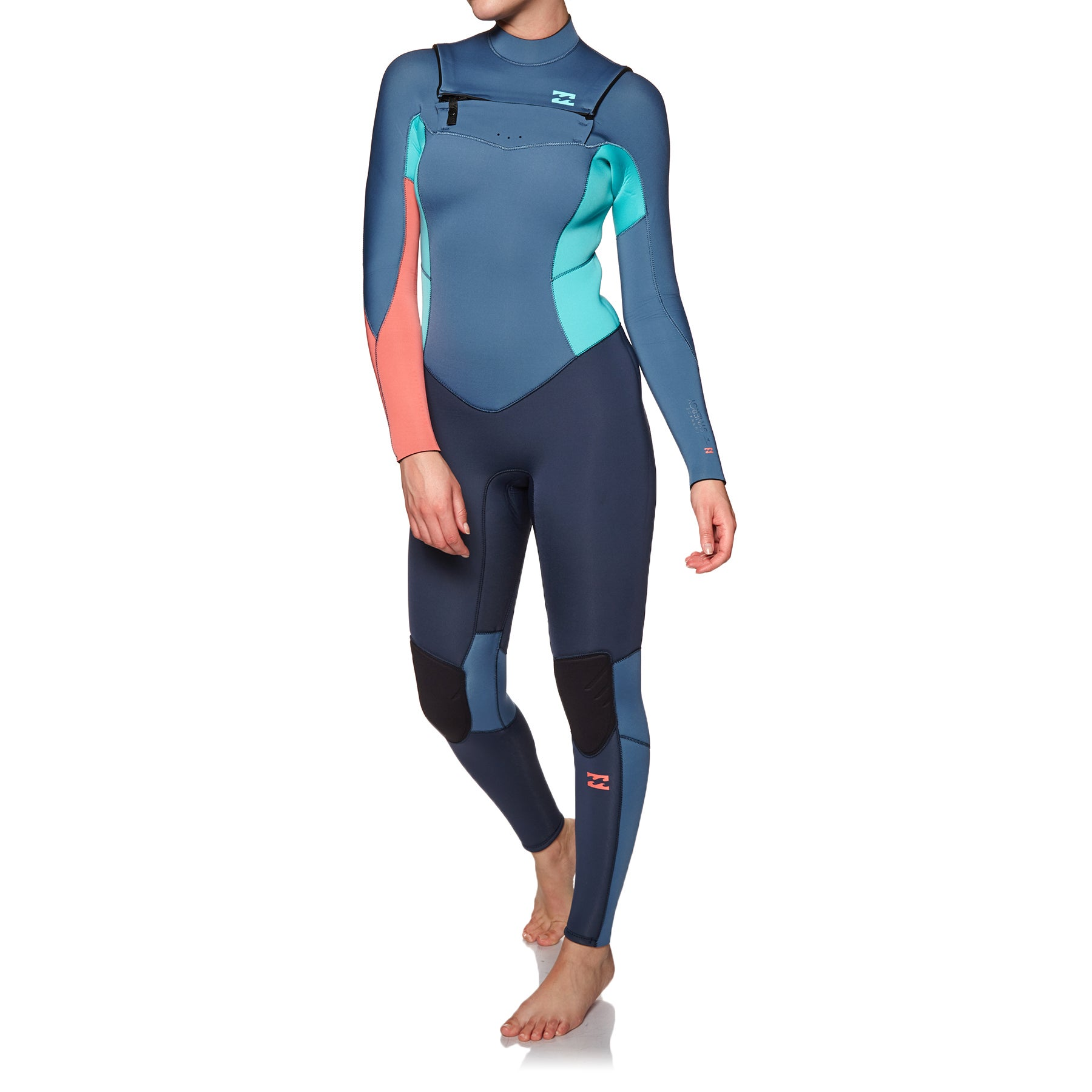 Billabong Furnace Synergy 4/3mm 2019 Chest Zip Wetsuit - Slate