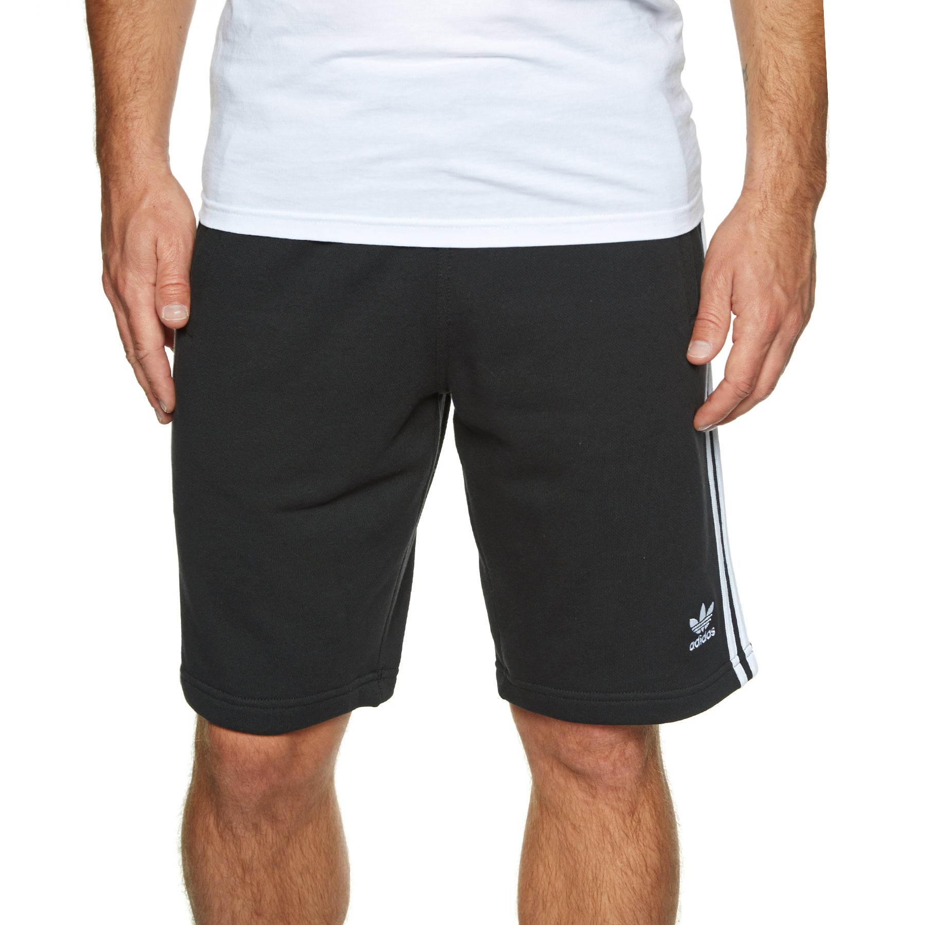 Adidas Originals 3 Stripe Shorts - Black