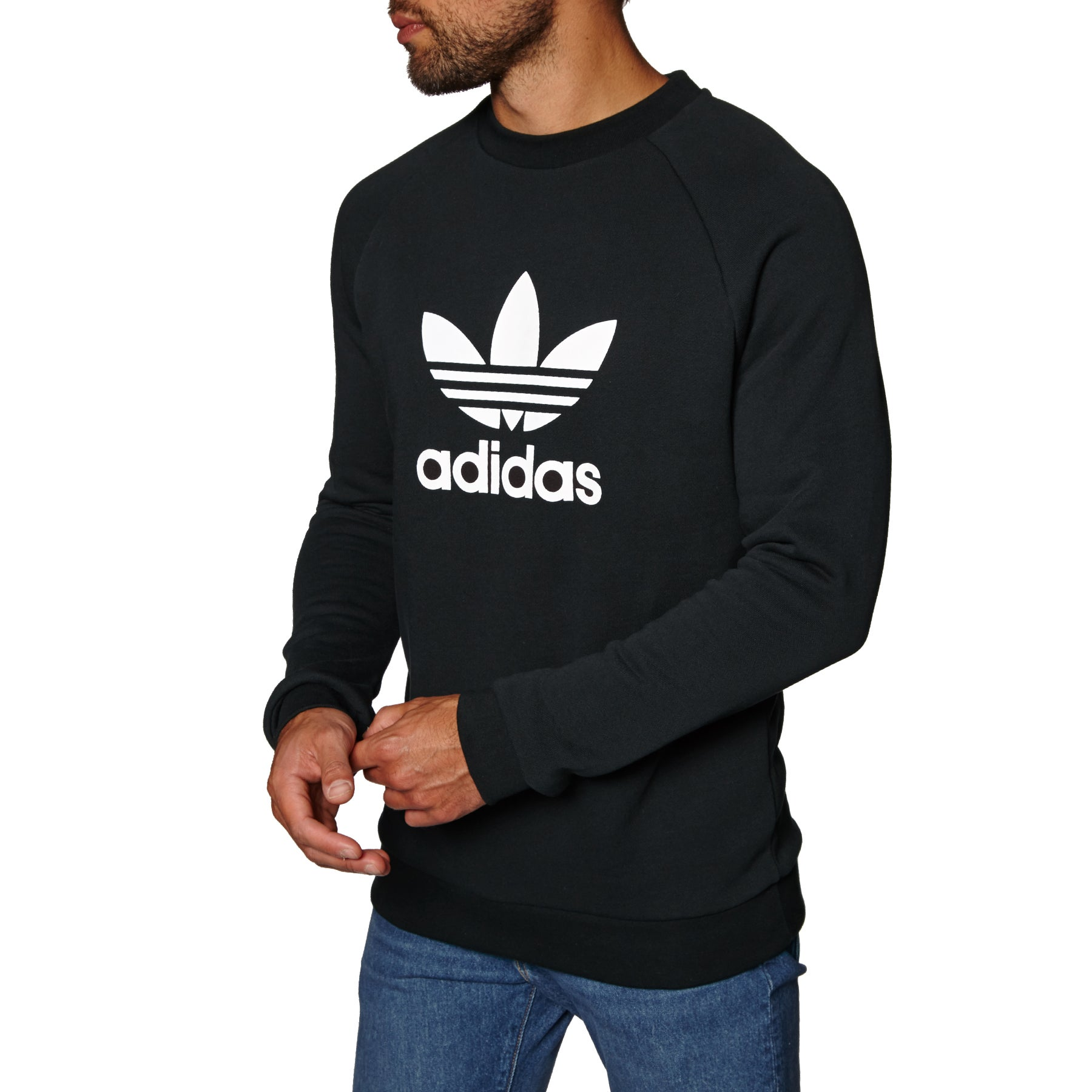 Adidas Originals Trefoil Crew Sweater - Black