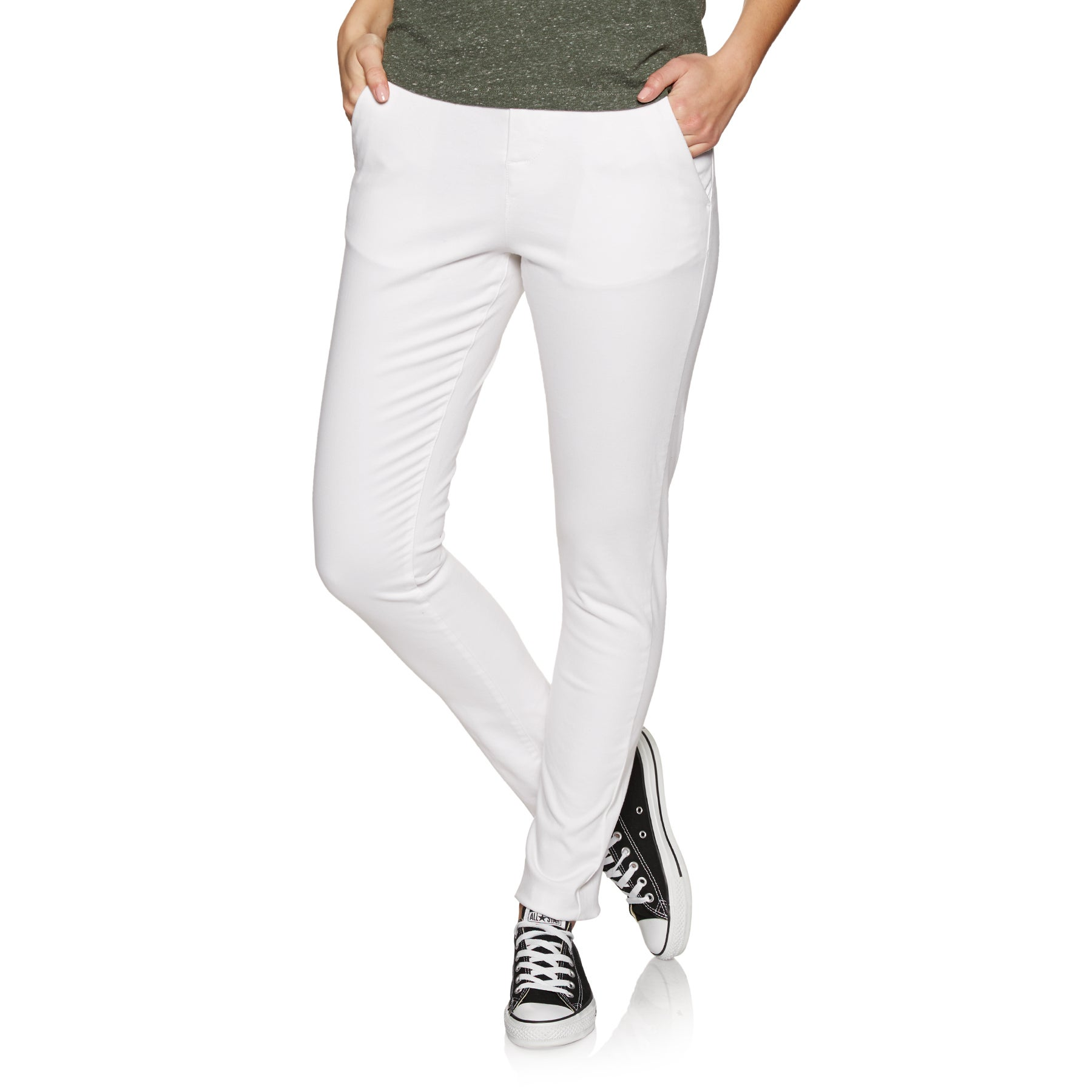 Pantalon Chino Femme Superdry City - Optic White