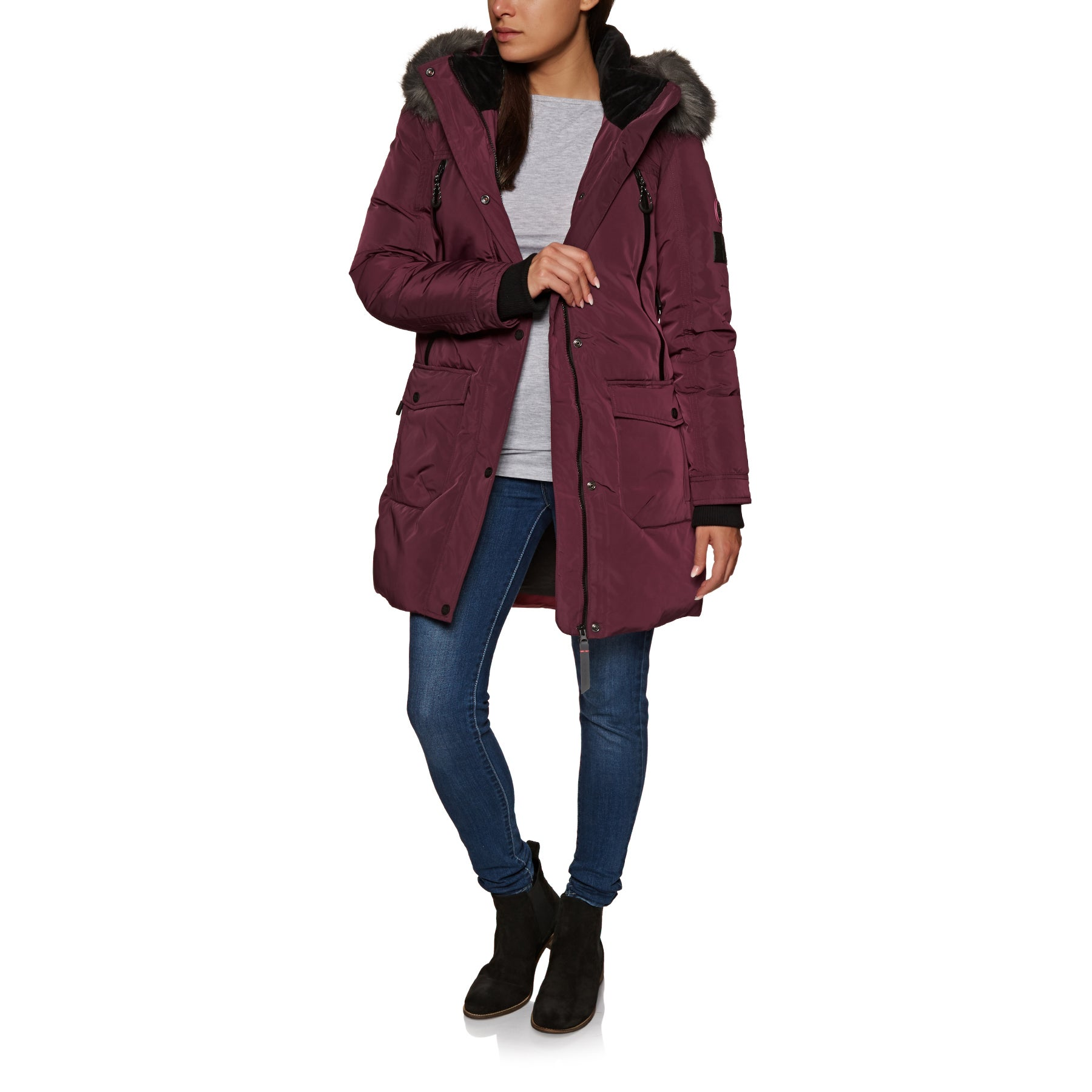 36adbe015e0 Superdry Antarctic Explorer Down Parka Womens Down Jacket available ...