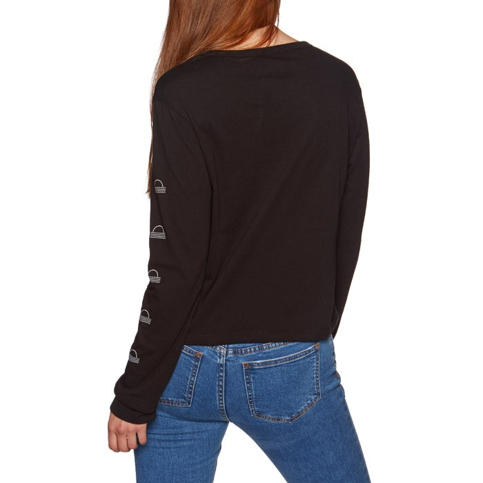Hurley Curved Tall Perfect Womens Long Sleeve T-Shirt