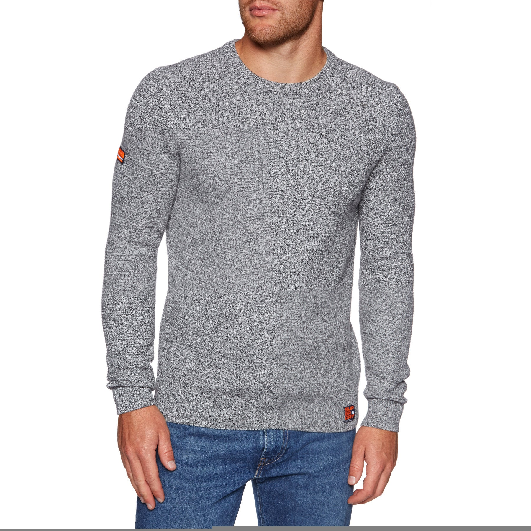 Superdry Upstate Crew Sweater - Graphite Grey Mix