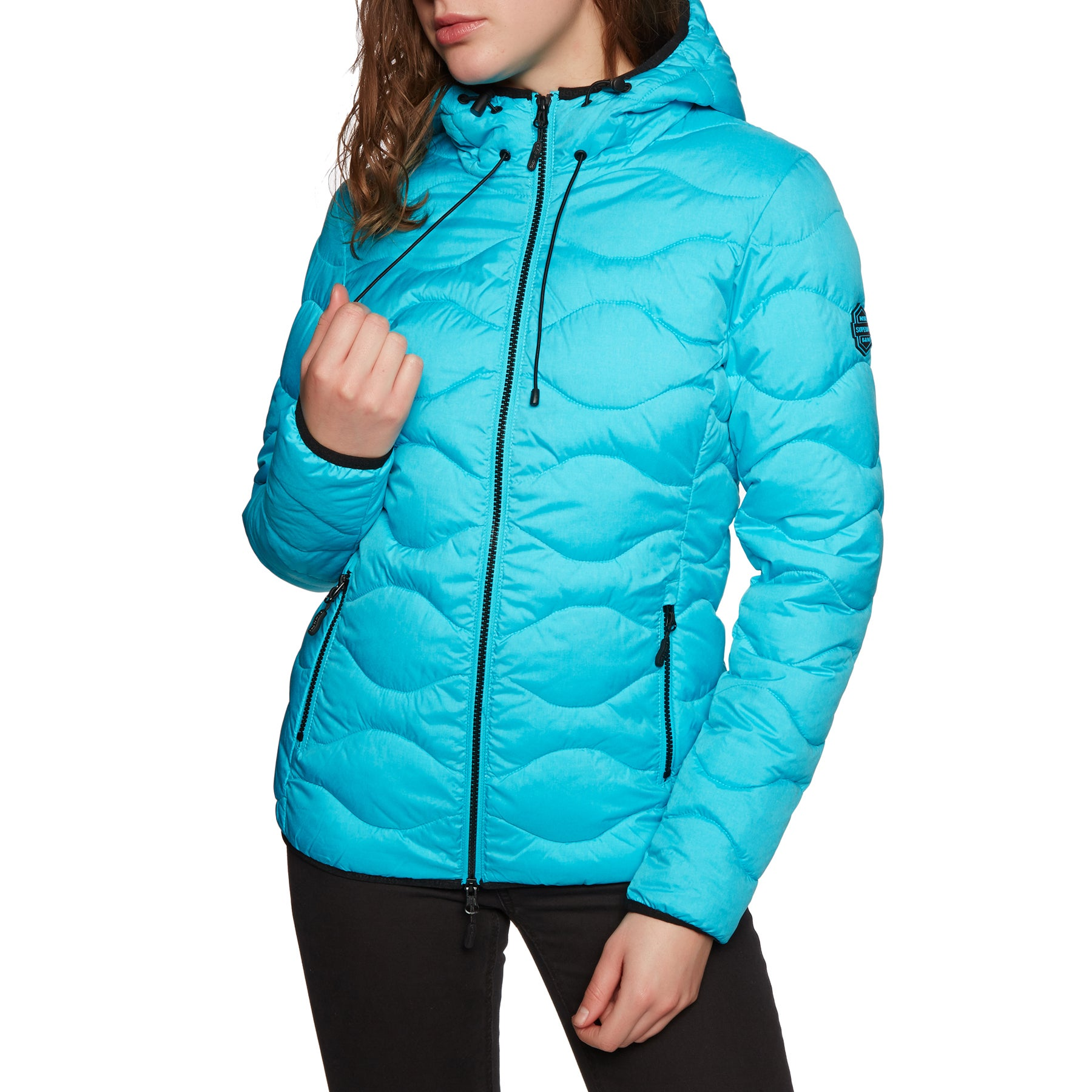 Superdry Astrae Quilt Padded Womens Jacket - Aqua