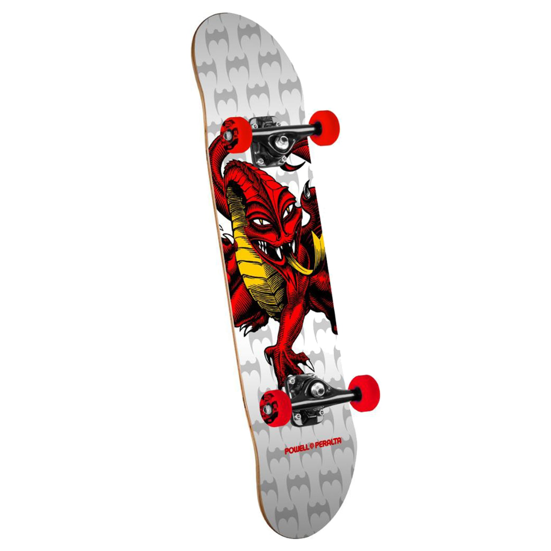 Powell Cab Dragon 7.75 Inch Complete Skateboard - White/red