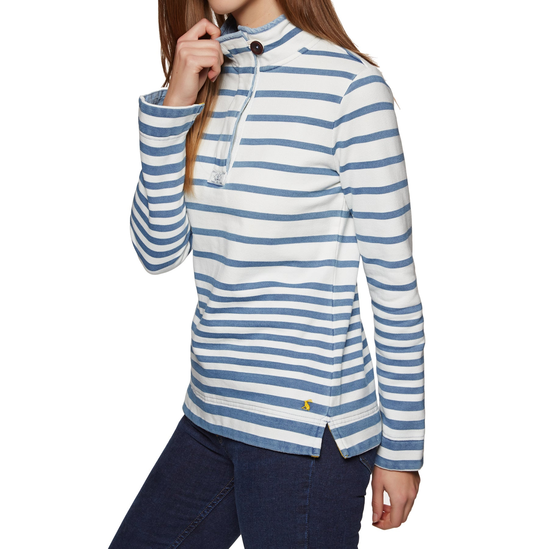 Sweat Femme Joules Saunton Saltwash Classic - Light Multi Blue Stripe
