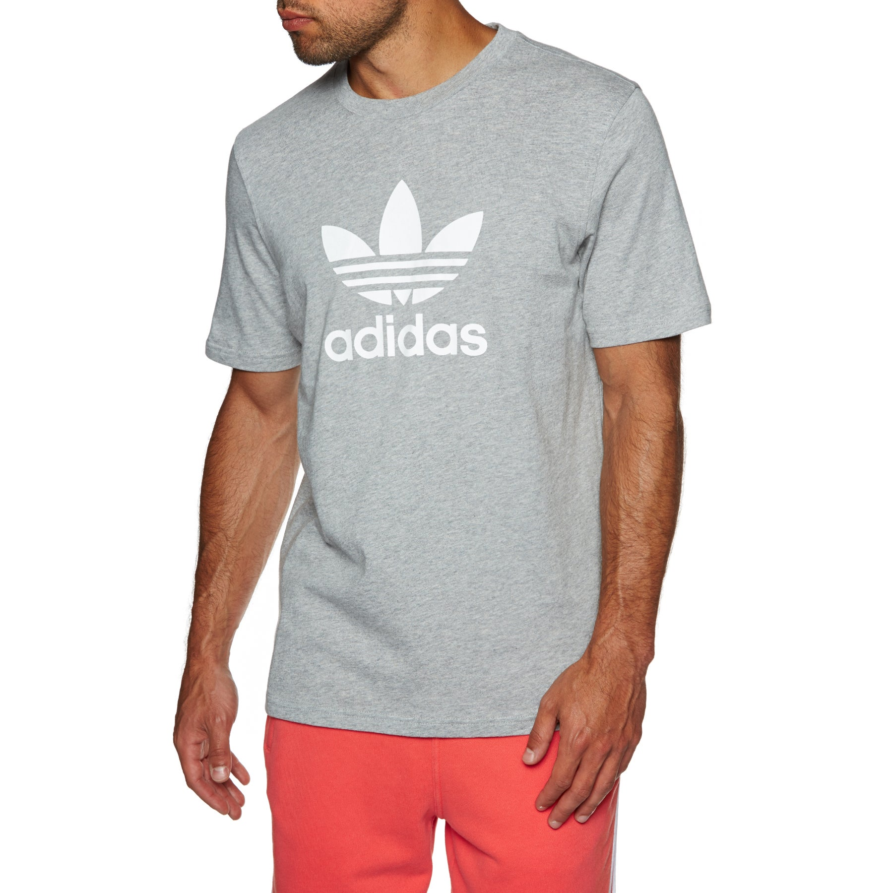 Camiseta de manga corta Adidas Originals Trefoil - Medium Grey Heather