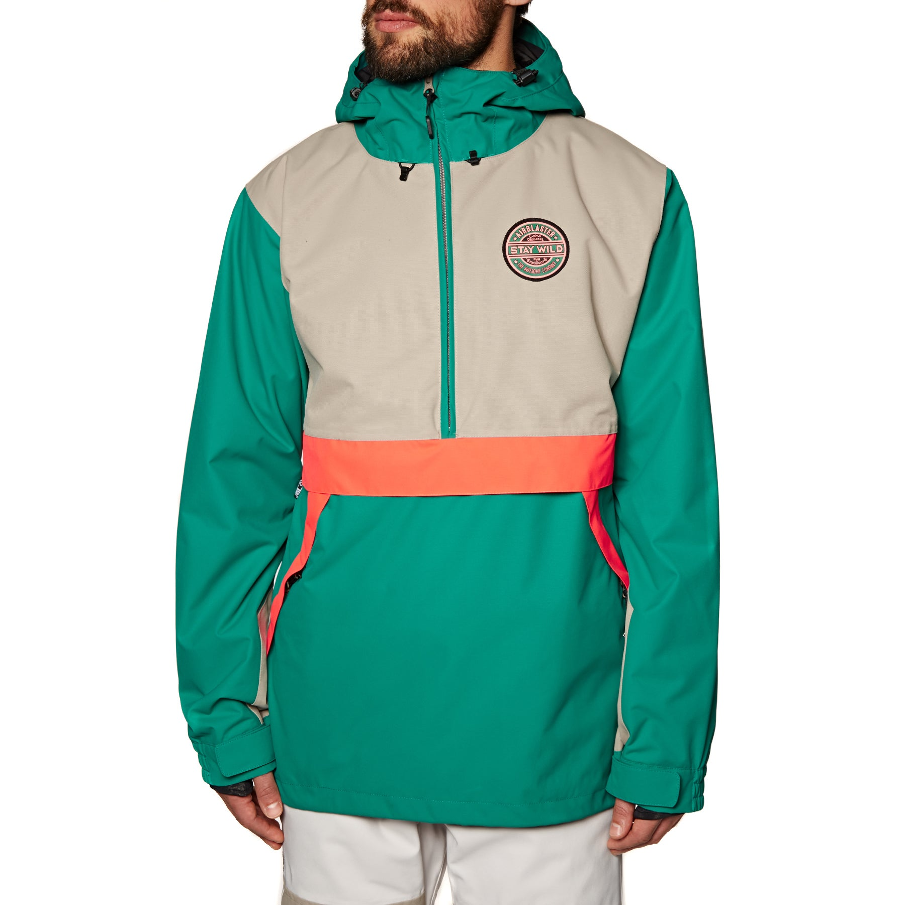 Blouson pour Snowboard Airblaster Trenchover - Hot Teal