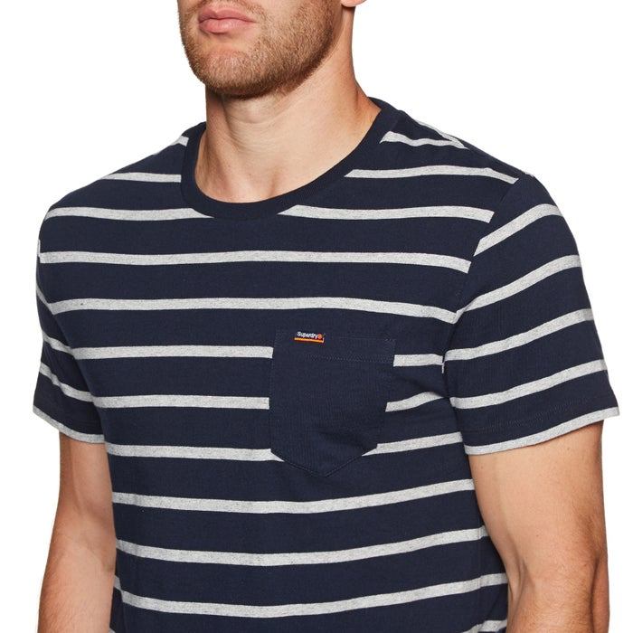 Superdry Orange Label Portland Stripe Pocket Short Sleeve T-Shirt