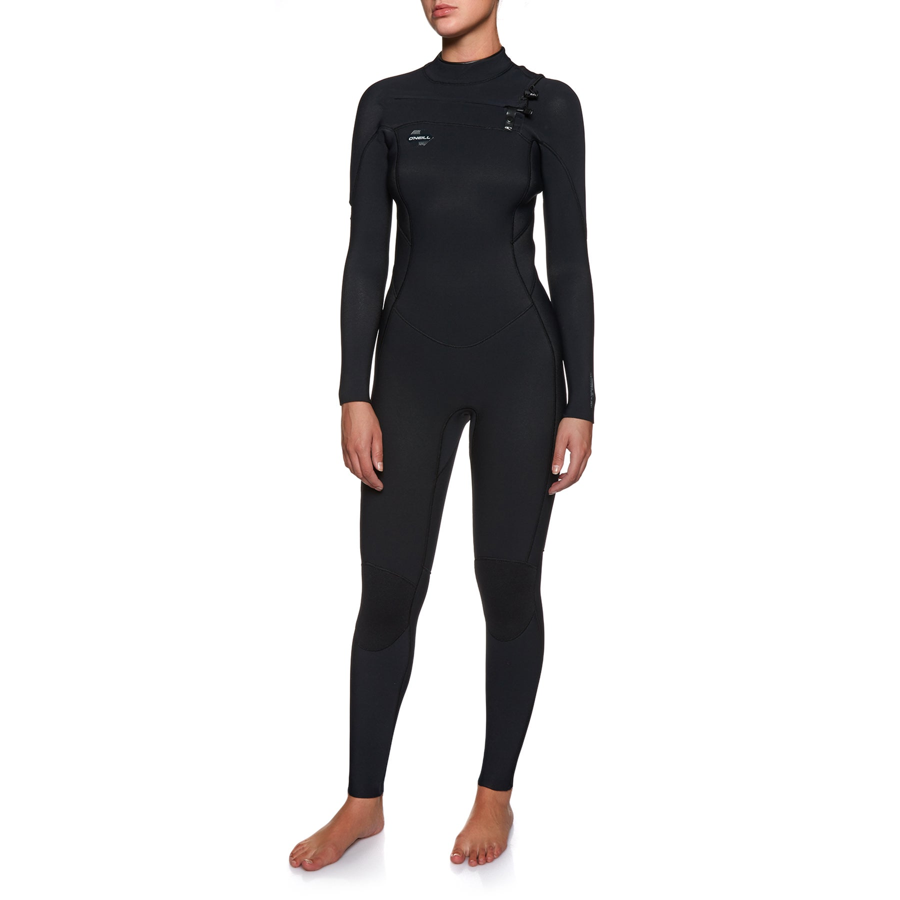 Combinaison de Plongée O Neill Womens Hyperfreak 4/3mm 2018 Chest Zip - Black