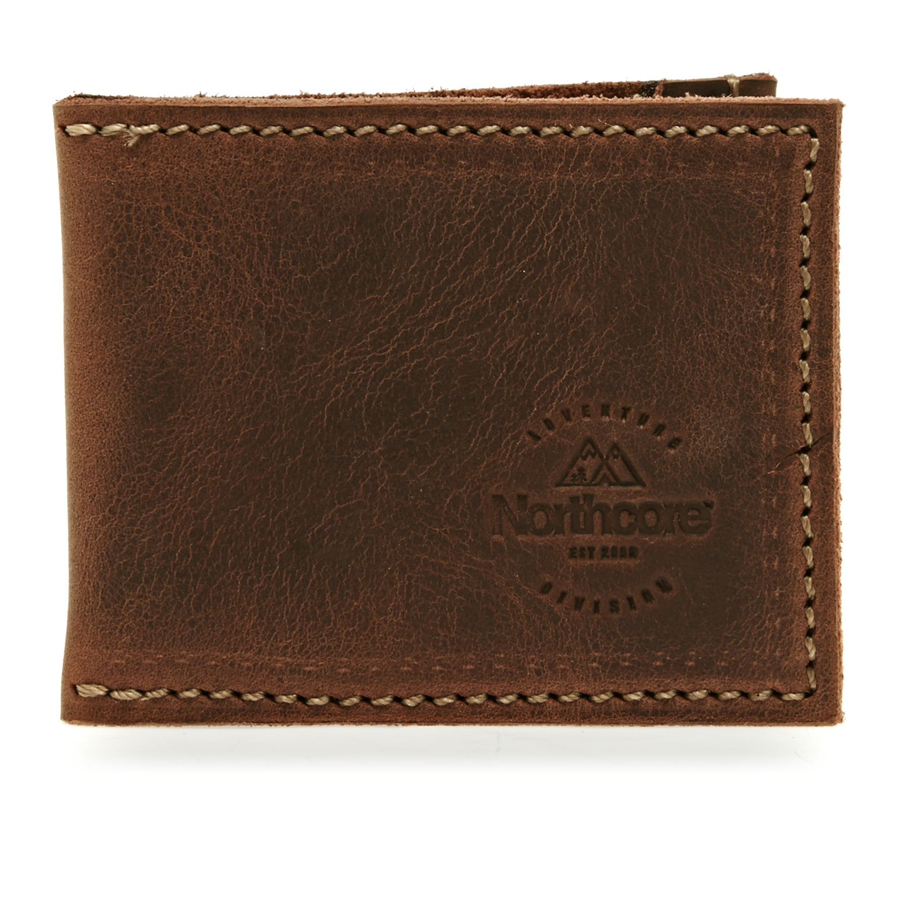 Northcore Adventure Ultra Slim Leather Wallet - Dark Brown