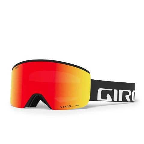 Giro Axis Snow Goggles - Black Wordmark Vivid Ember Vivid Infrared