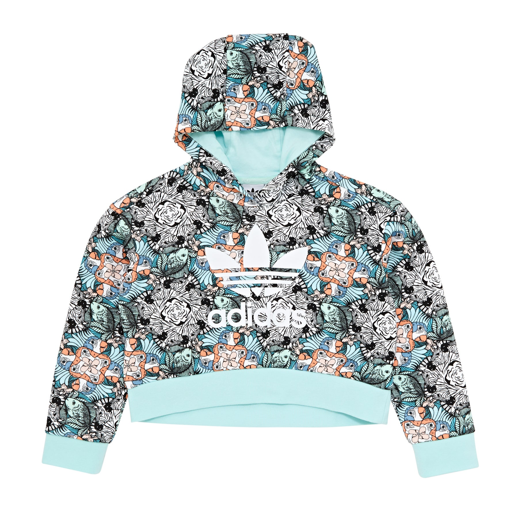 Adidas Originals Zoo Kids Pullover Hoody - Multco/clemin/white