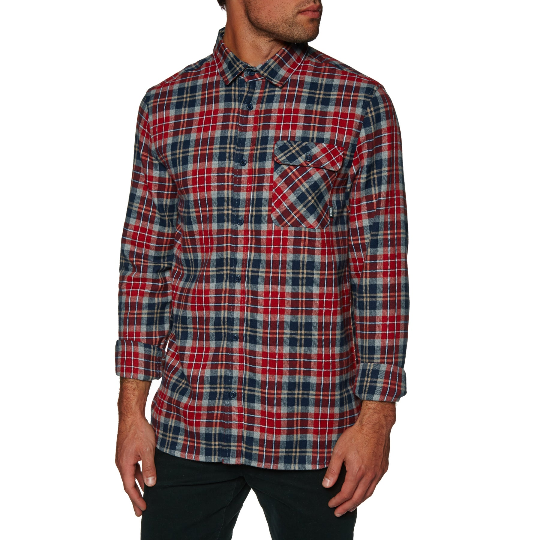 Etnies Axel Flannel Shirt - Red/navy