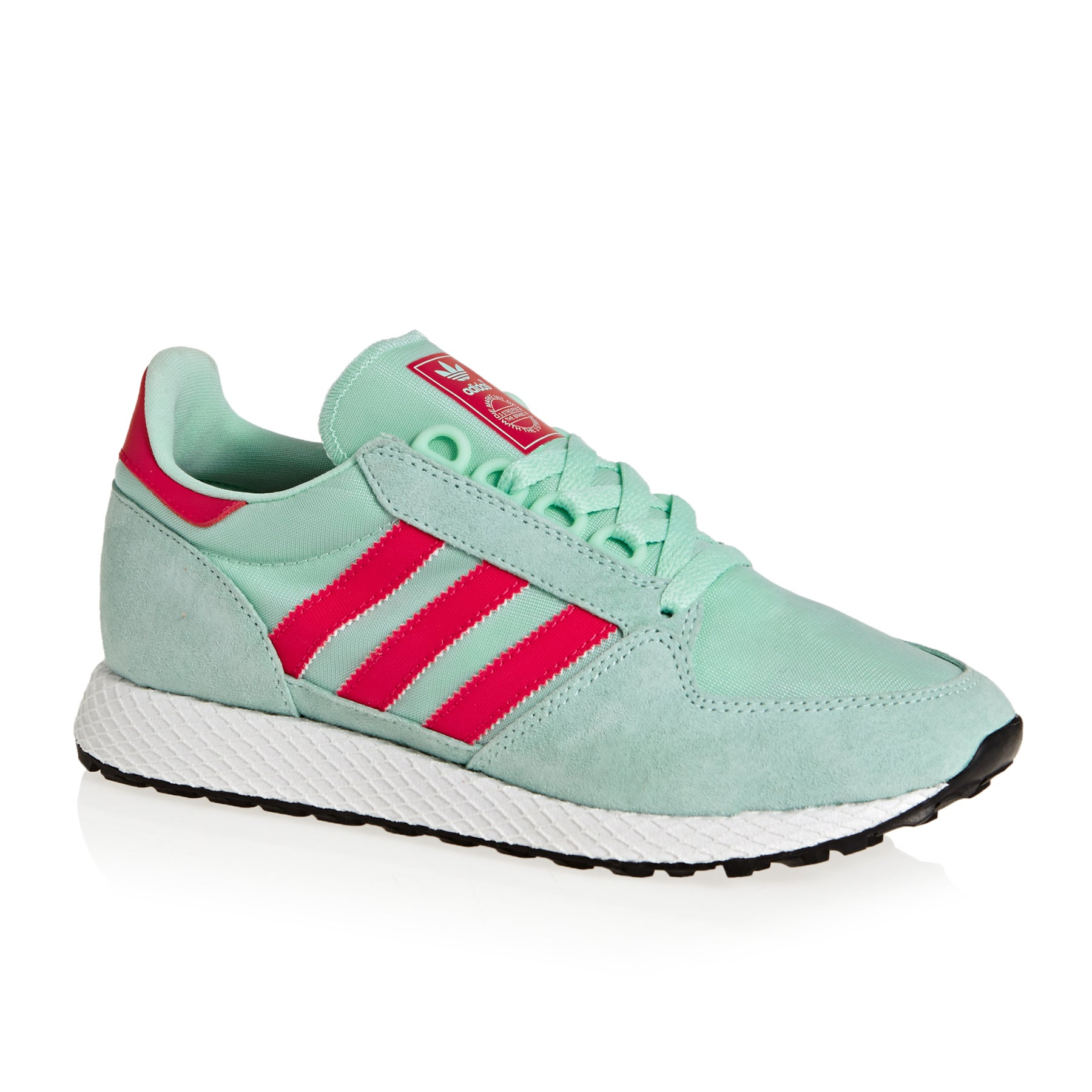 Adidas Originals Forest Grove Womens Shoes - Clear Mint Active Pink Chalk White