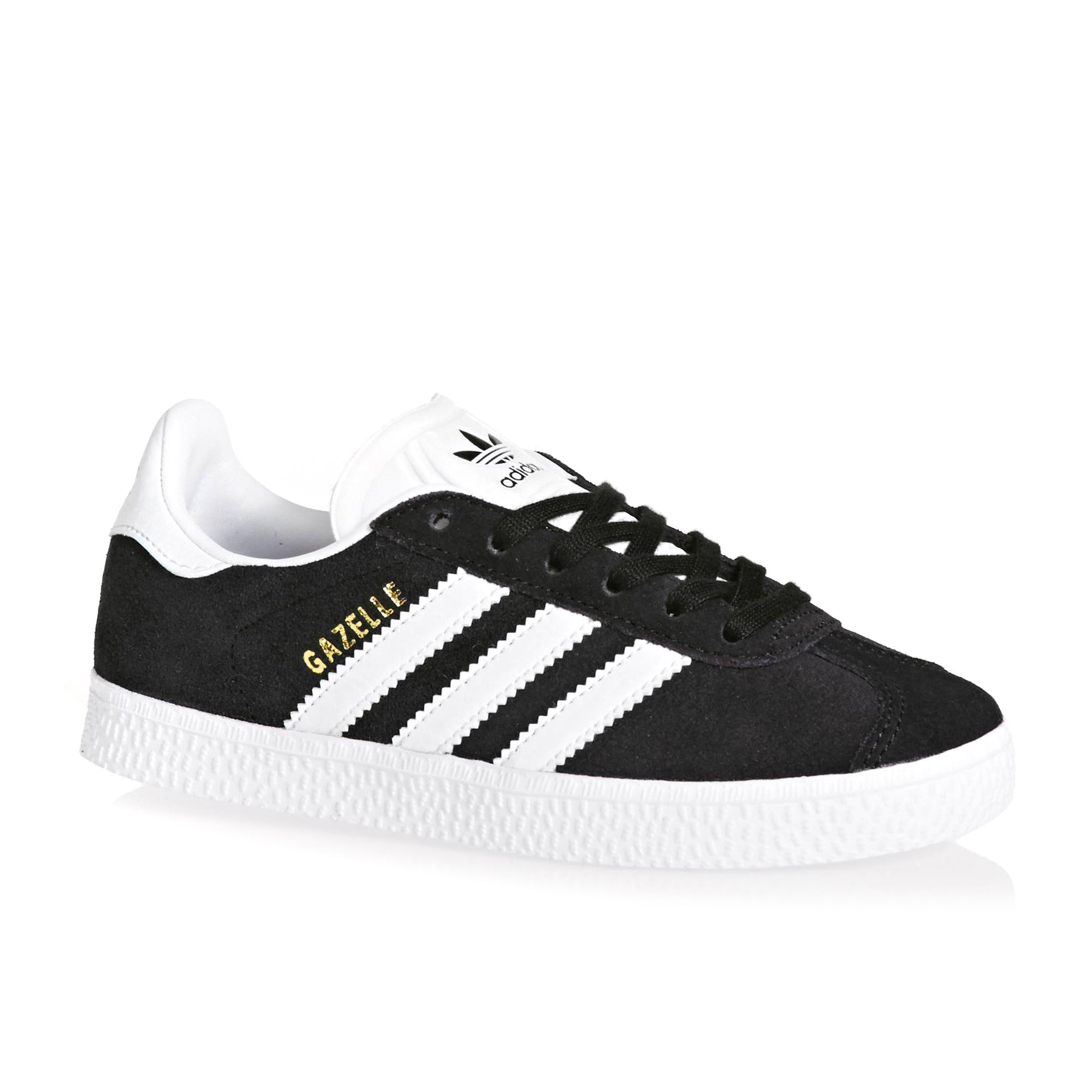 Adidas Originals Gazelle Crib Kids Shoes - Black White Gold