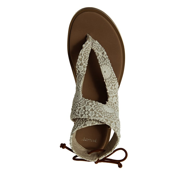Sanuk W Yoga Mariposa Crochet Womens Sandals