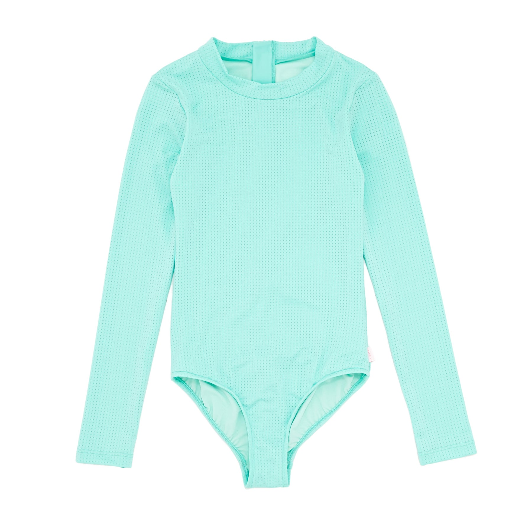 Seafolly Summer Essential L/s Surf Tank Girls Swimsuit - Emerald Blue