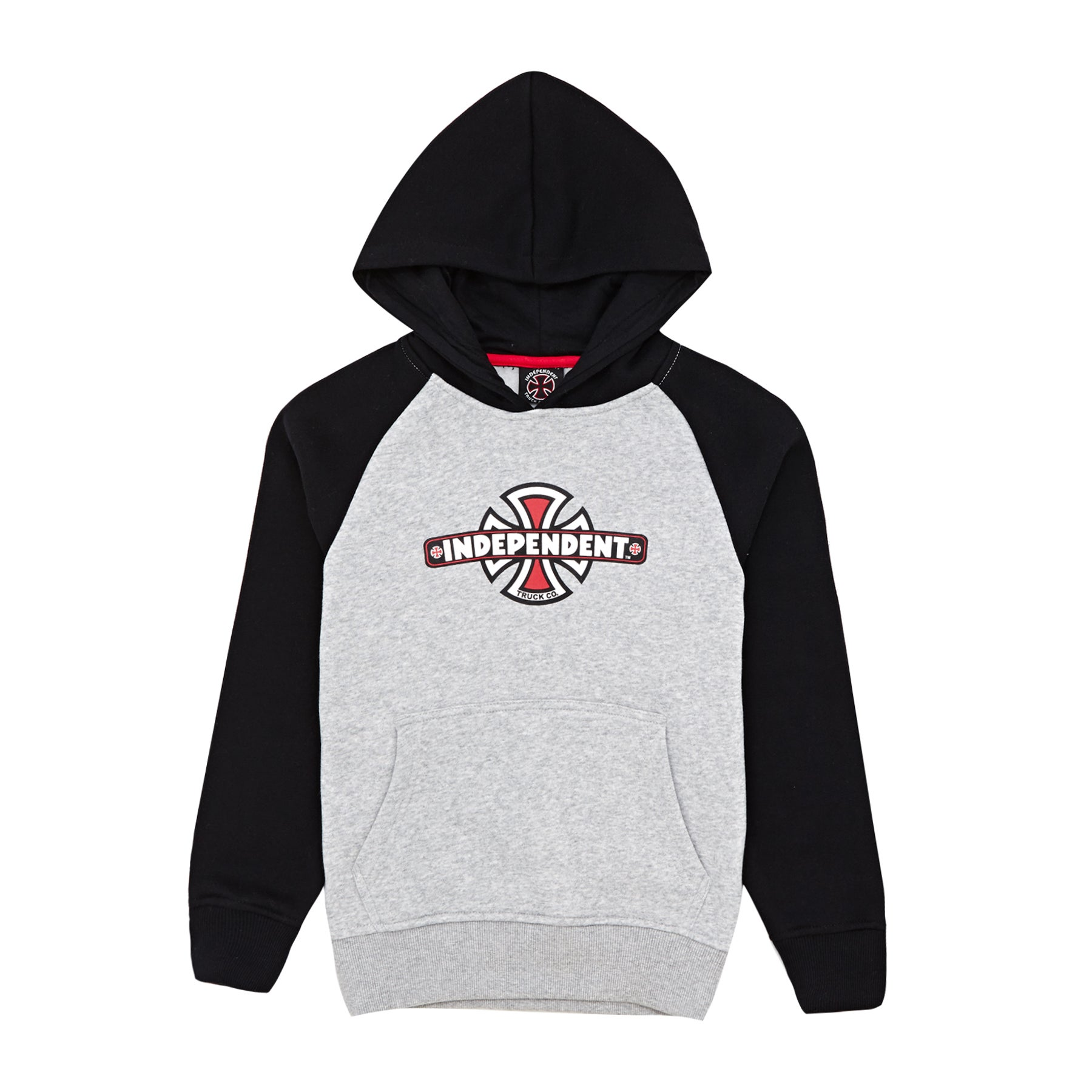 Independent Vintage Cross Kids Pullover Hoody - Black/athletic Heather