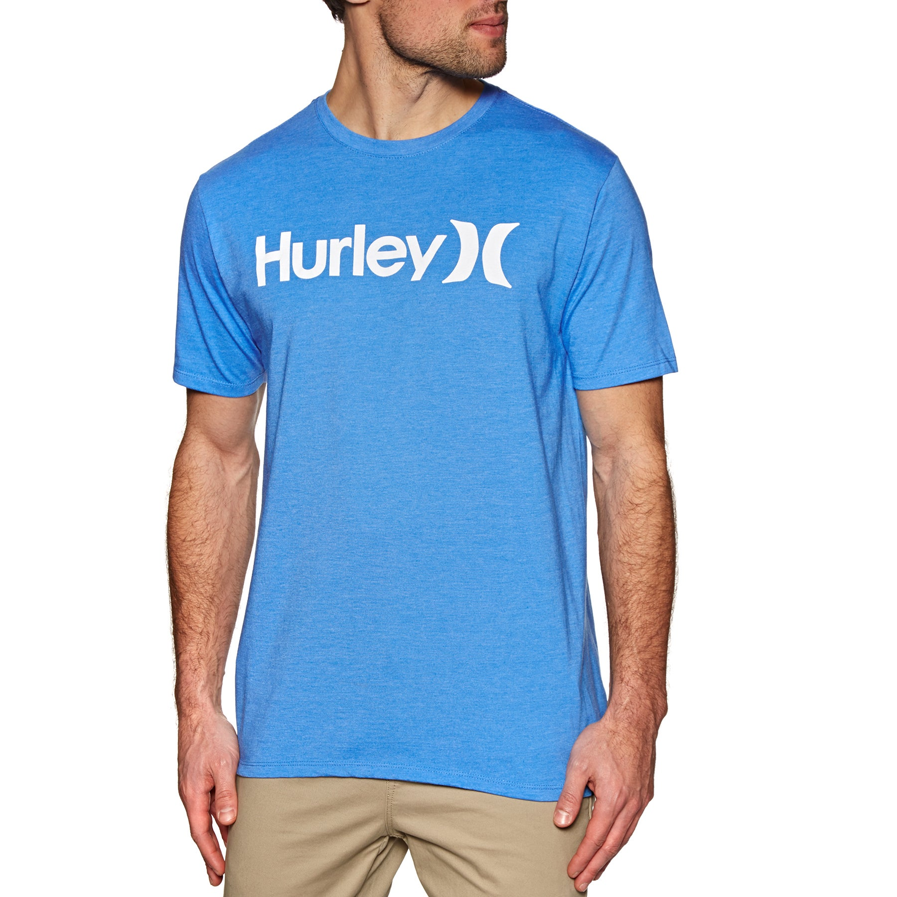 Hurley One And Only Solid Short Sleeve T-Shirt - Lt Photo Blue