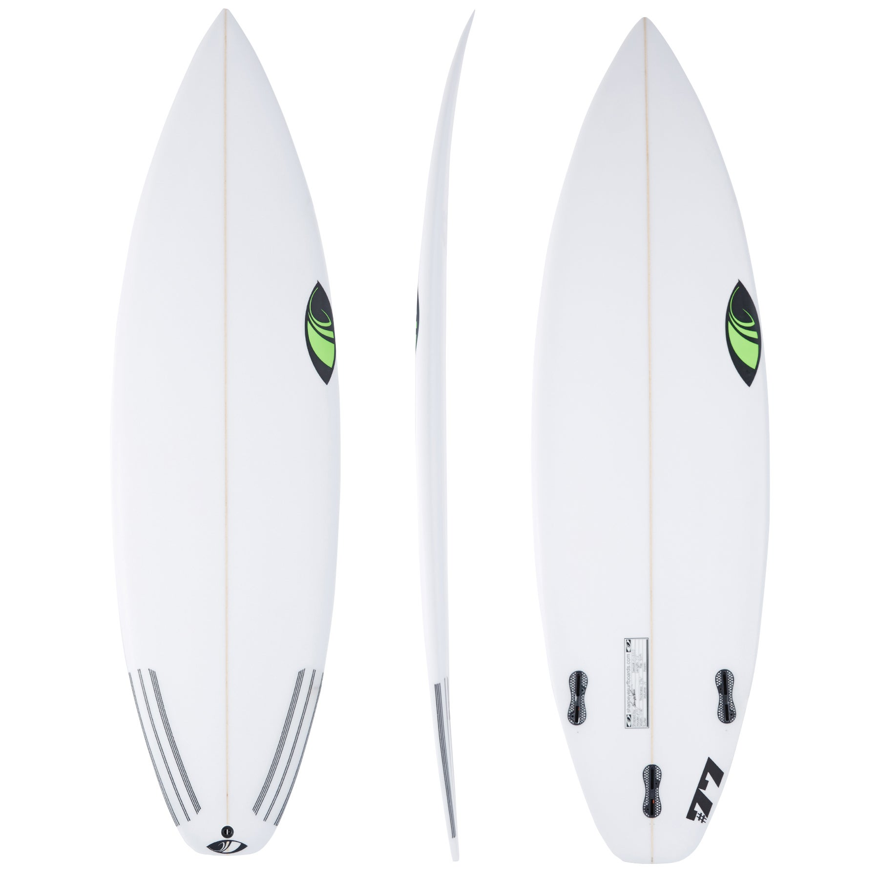 Surfboard Sharp Eye #77 Thruster FCS II - White