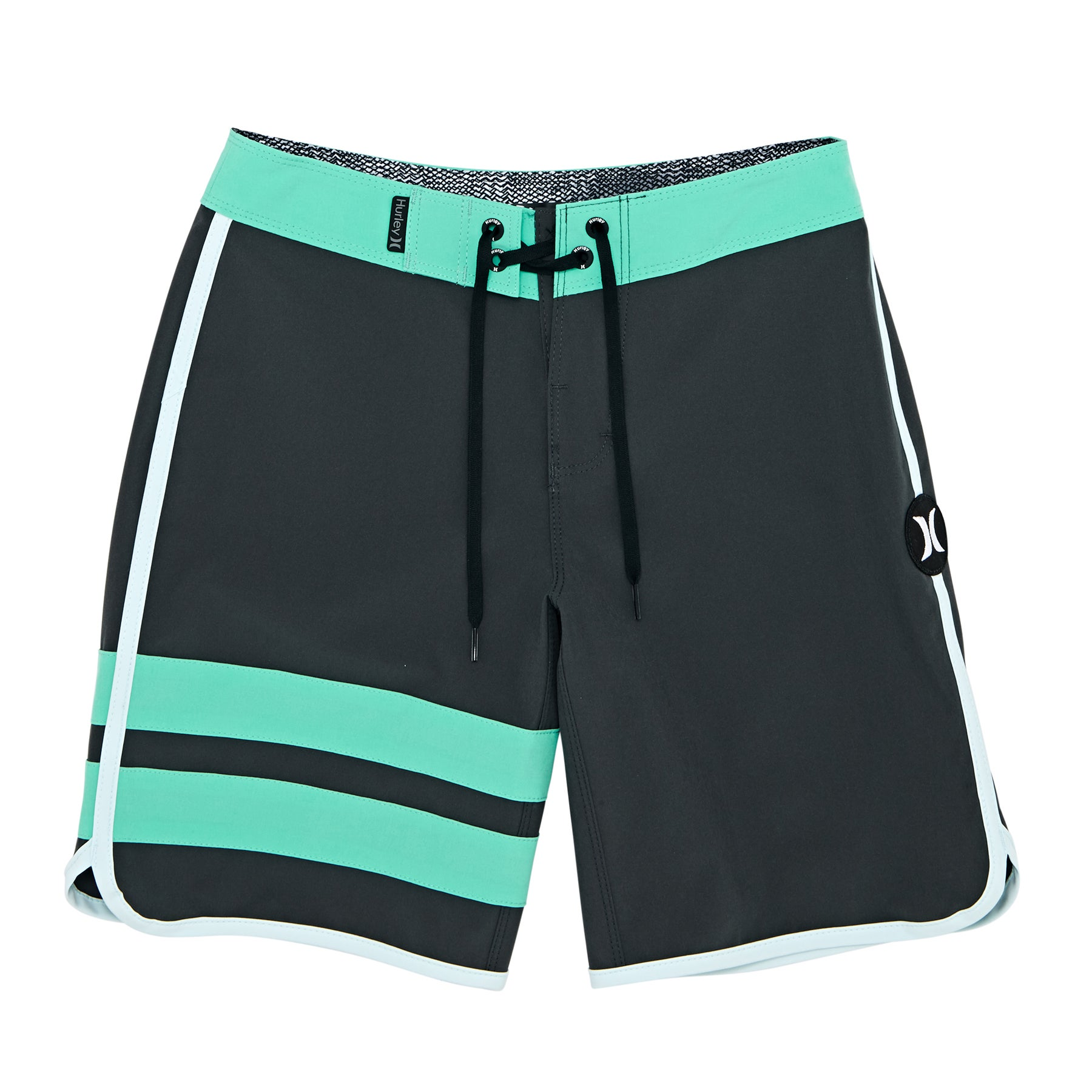 Boardshort Hurley Phantom Block Party Solid 16in - Anthracite