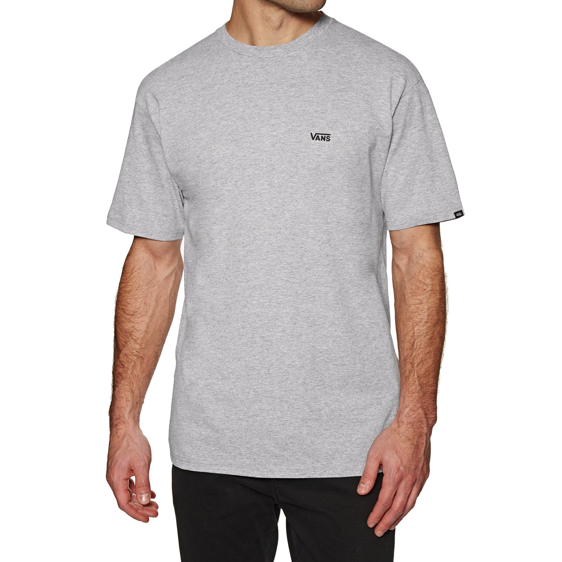 Vans Left Chest Logo Short Sleeve T-Shirt - Athletic Heather