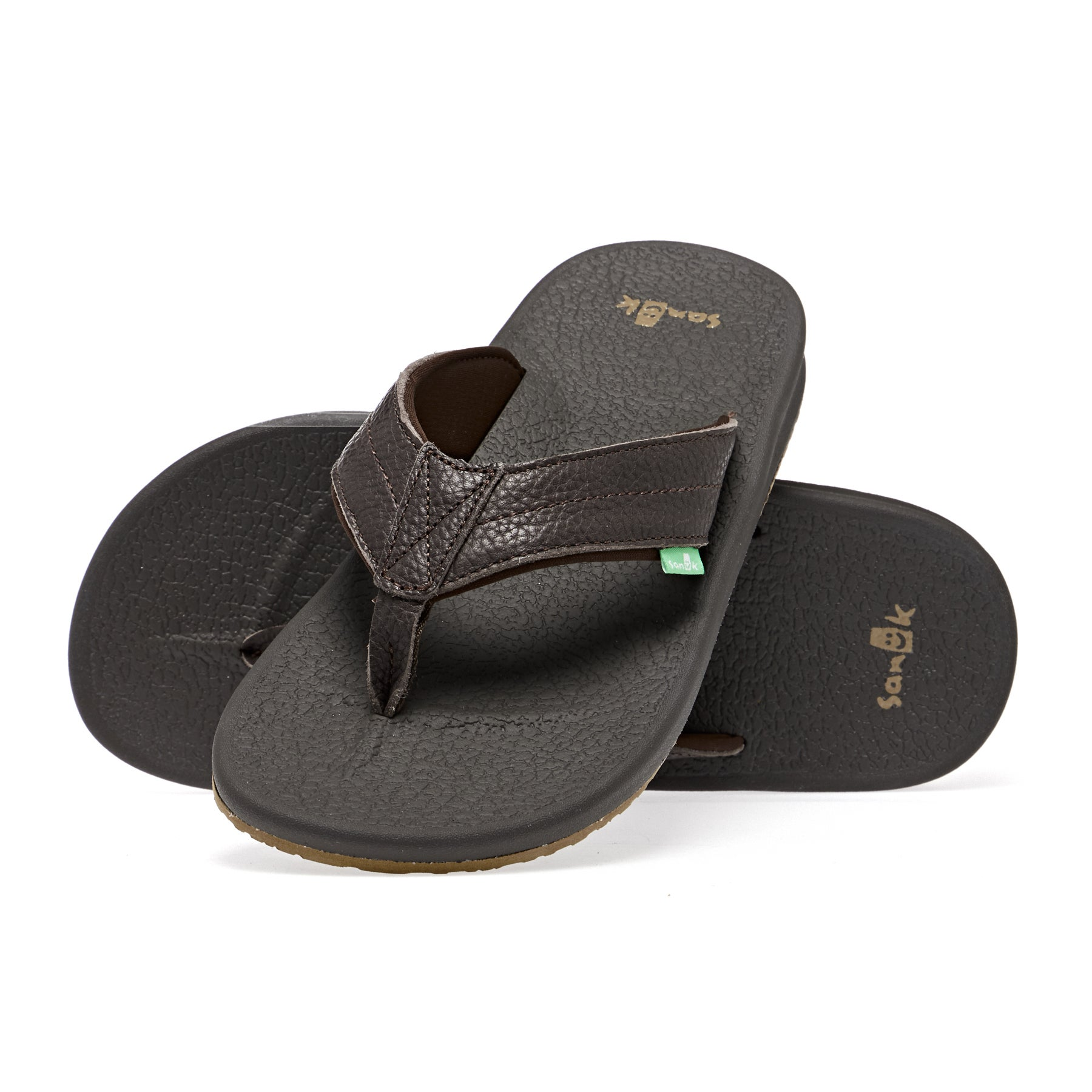 Sanuk Brumeister Primo Sandals - Dark Brown