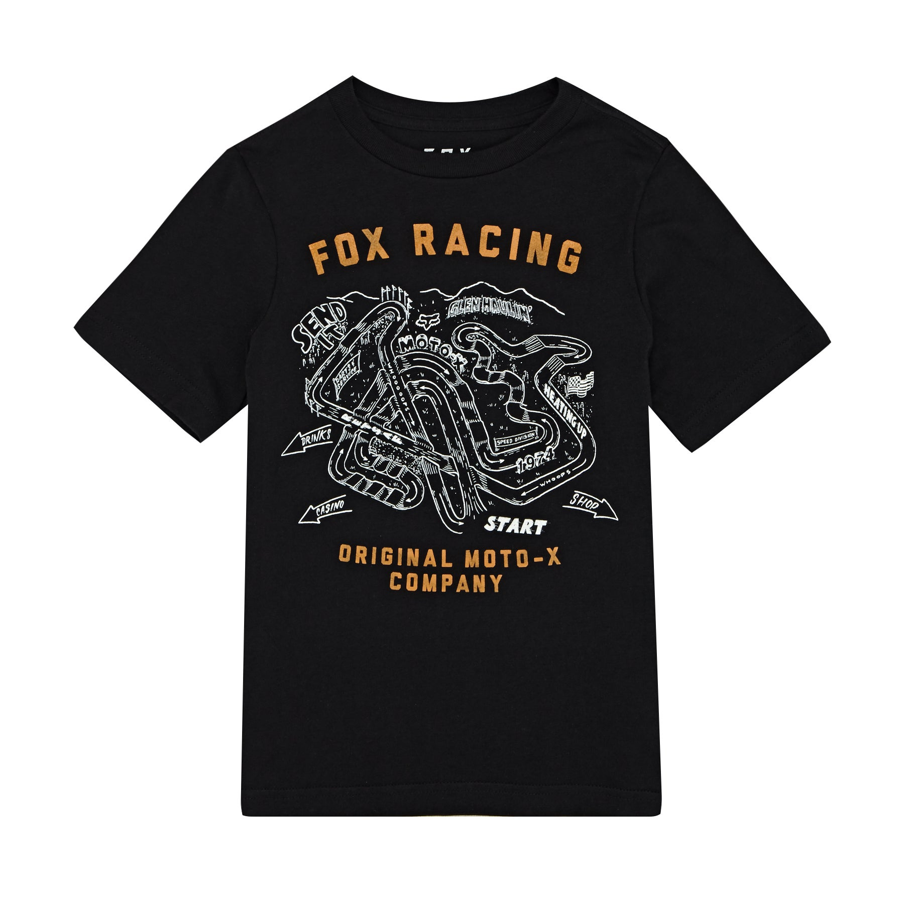 Fox Racing Youth Fast Track Short Sleeve T-Shirt - Black