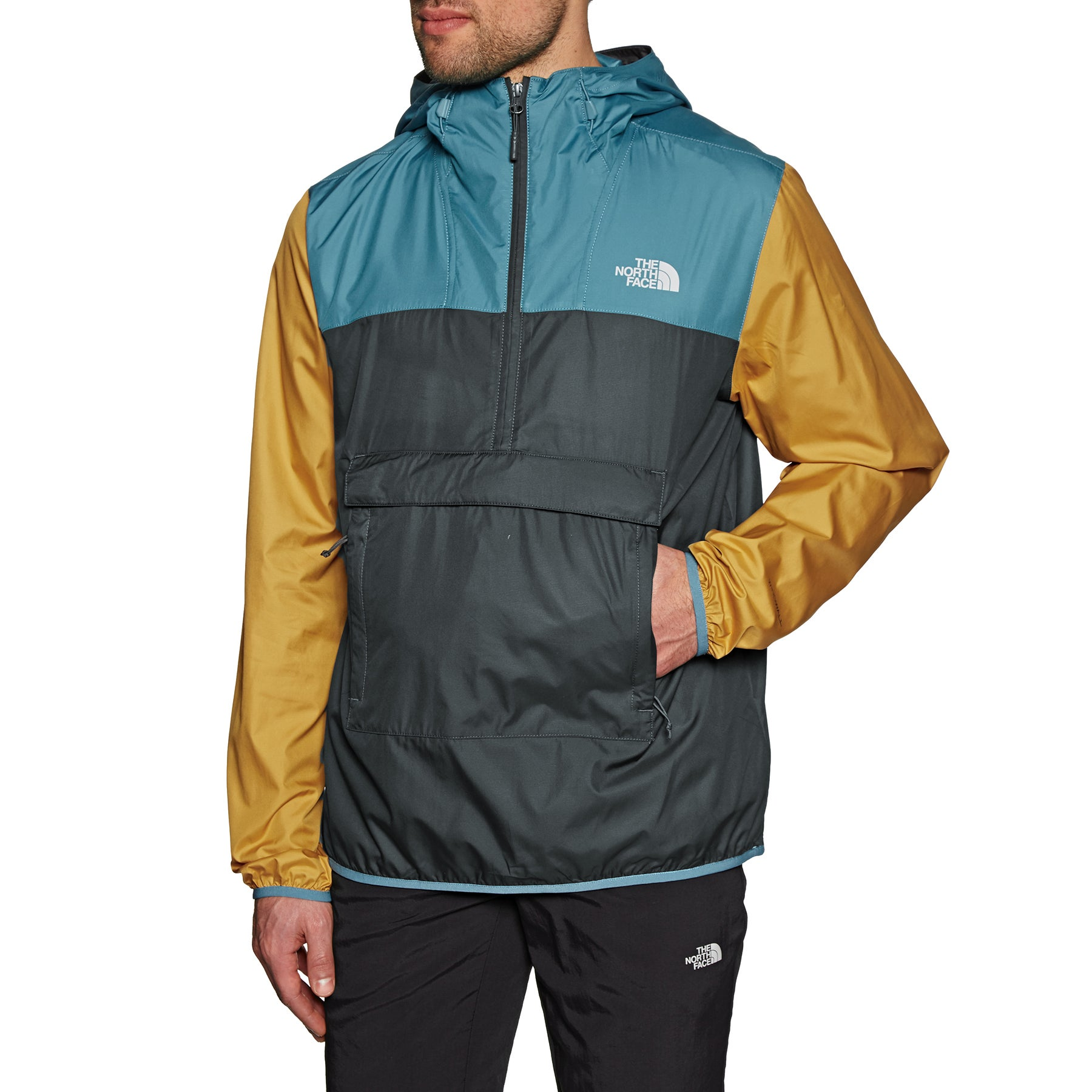 Chaqueta a prueba de viento North Face Fanorak - Grey Storm Blue Yellow
