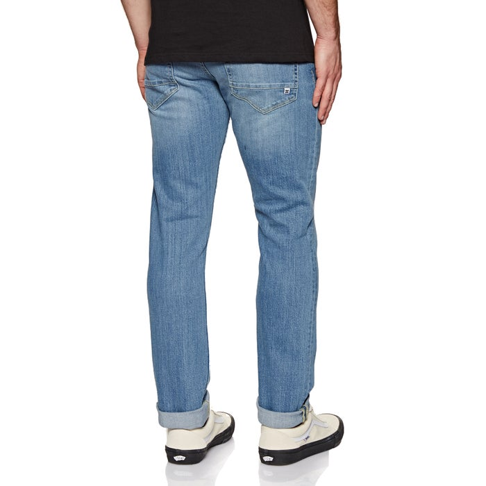 DC Worker Straight Bleached Jeans