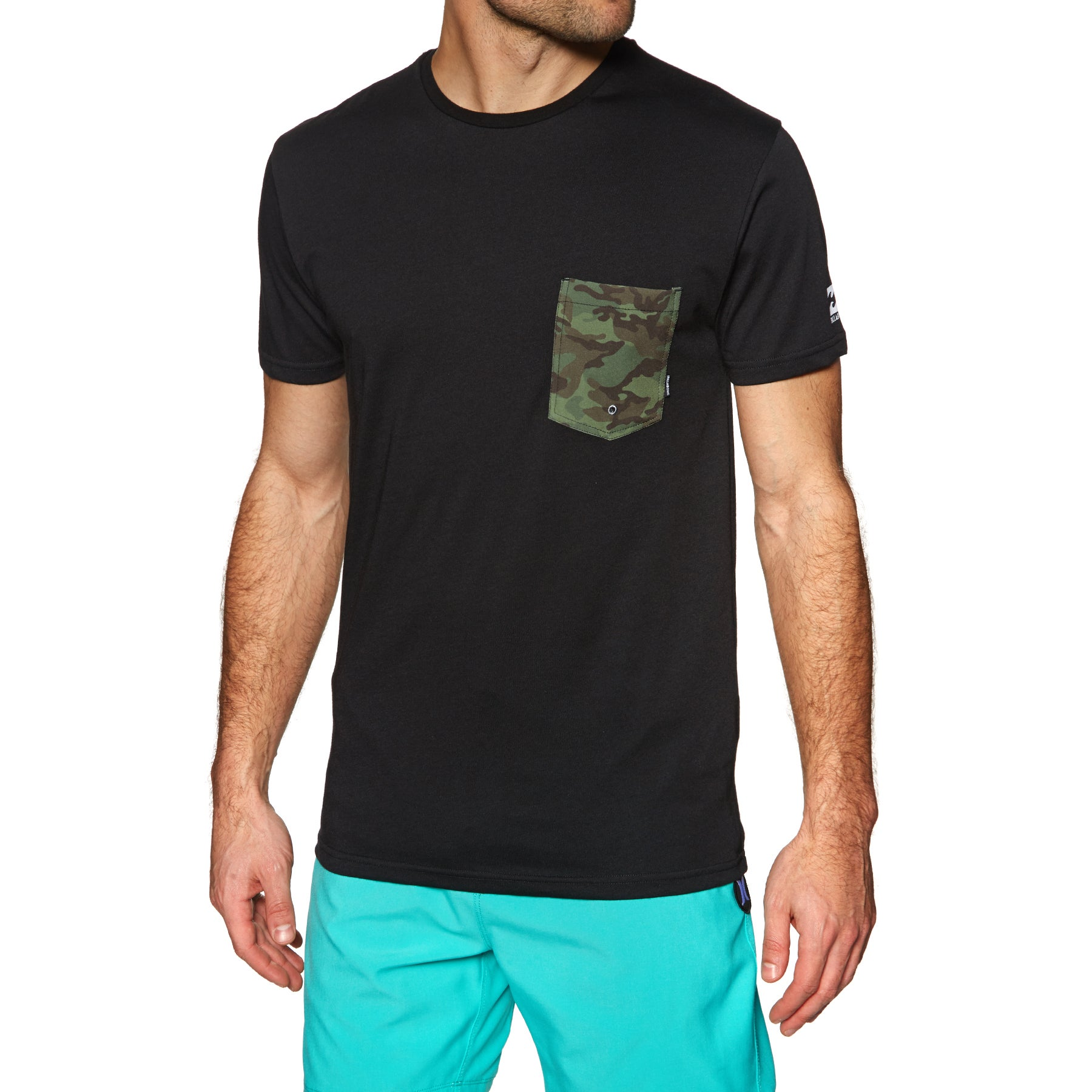 Billabong Team Pocket Short Sleeve Surf T-Shirt - Black