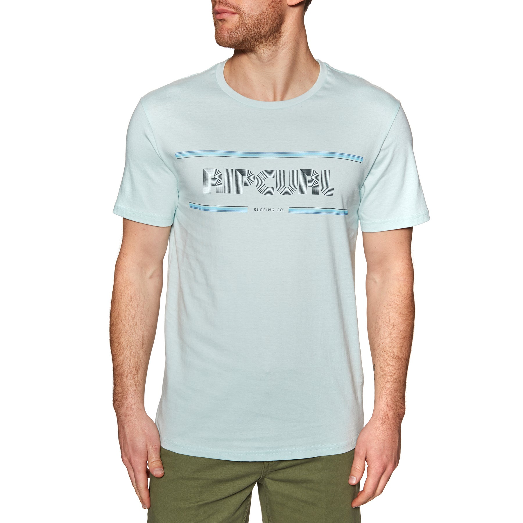 Rip Curl Mama Strokes Short Sleeve T-Shirt - Light Blue