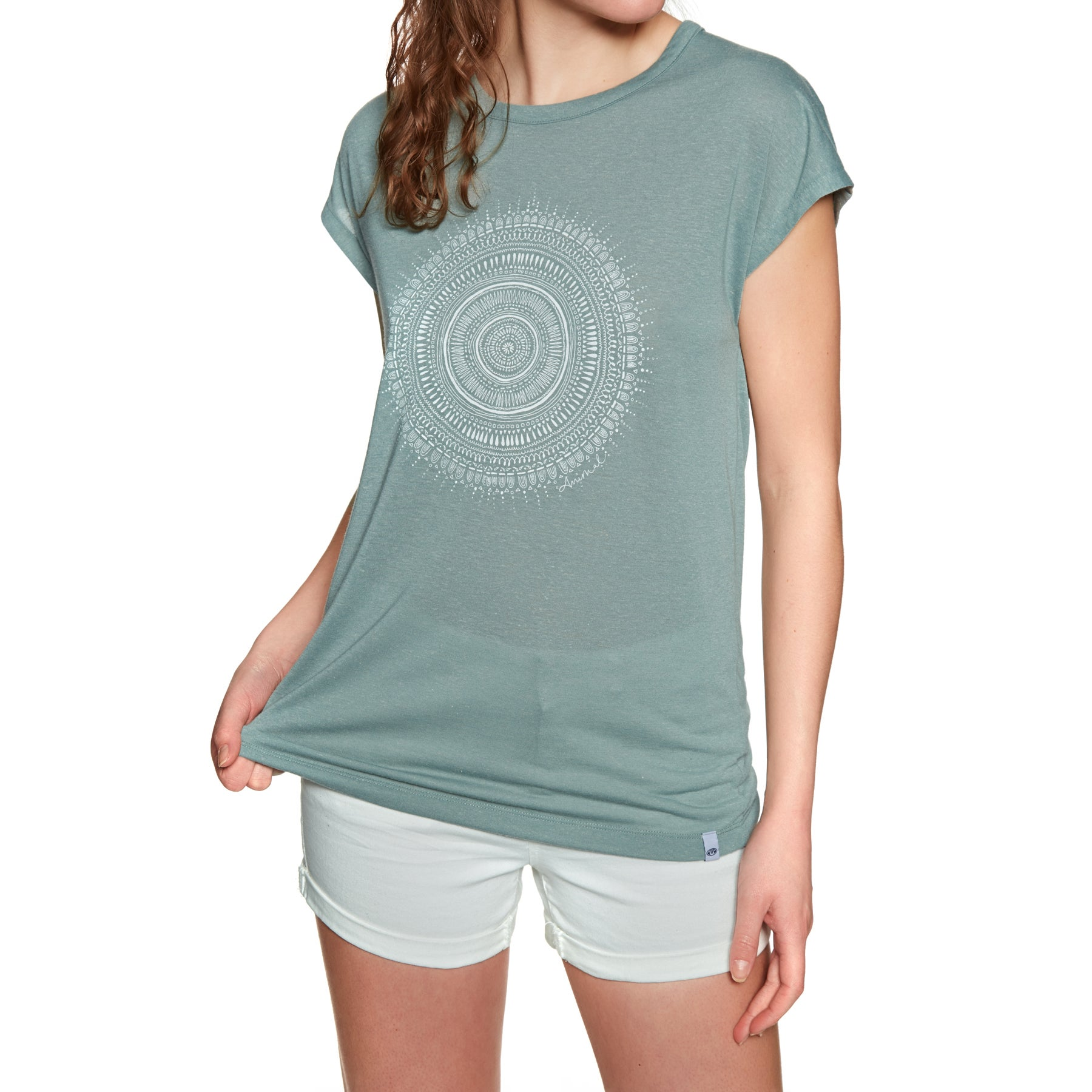 Animal Ethnique Womens Short Sleeve T-Shirt - Chinois Green