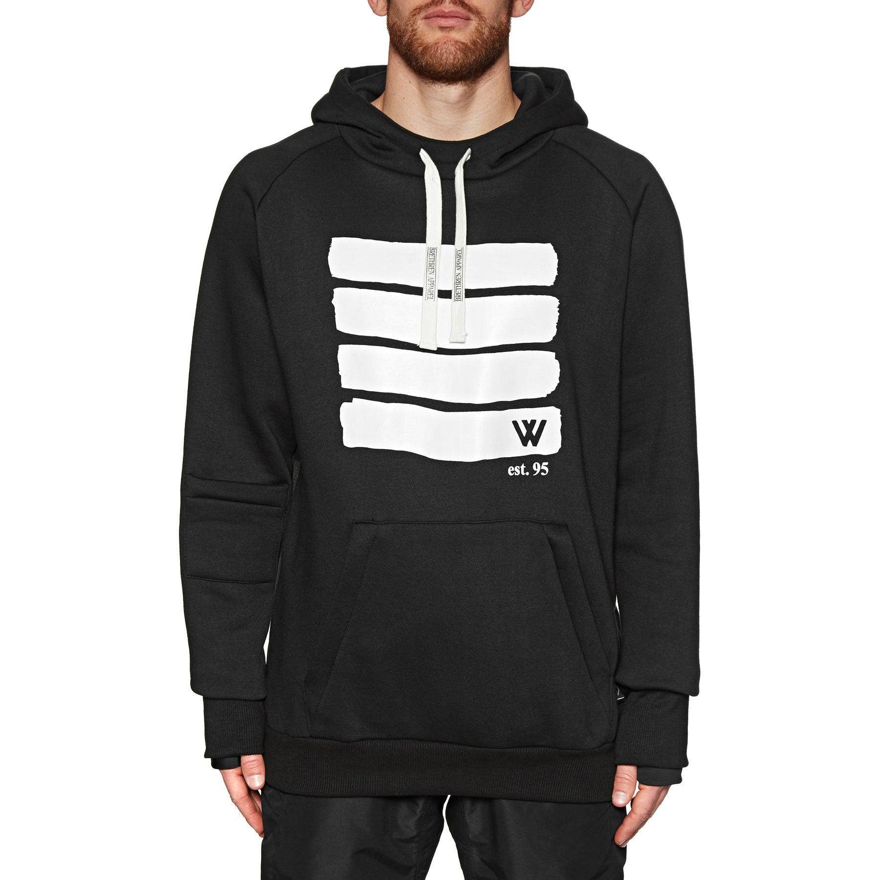Whitelines Lines Riding Pullover Hoody - Black