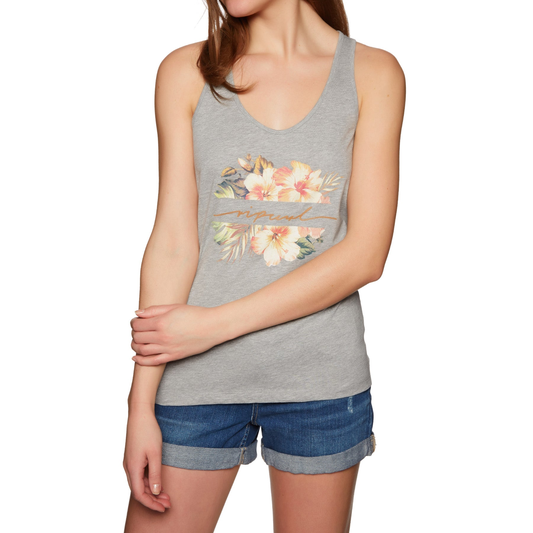 Rip Curl Aloha Tank Vest - Cement Marle