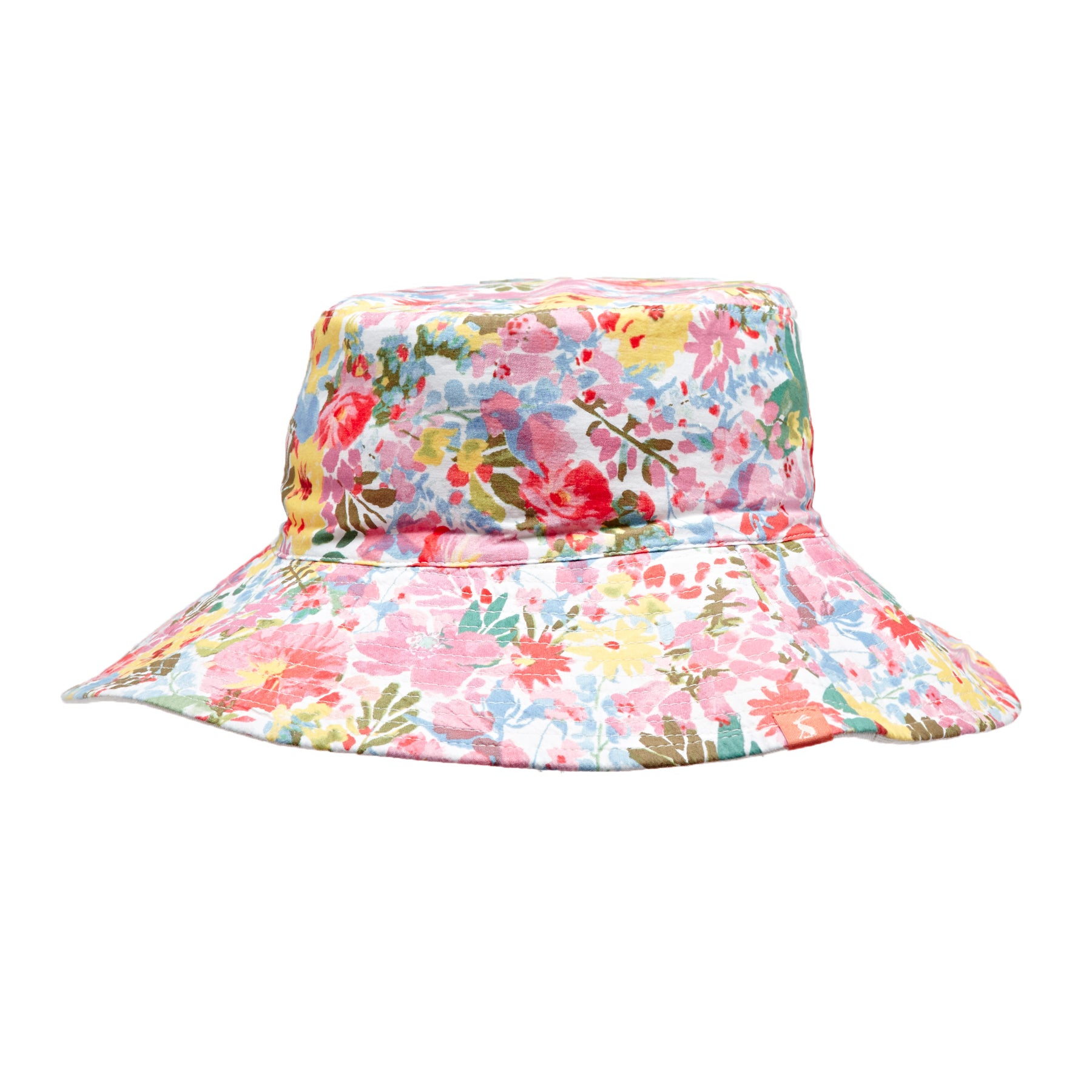 Joules Womens Celia Cotton Sun Hat ONE in WHITE FLORAL MEADOW in One Size