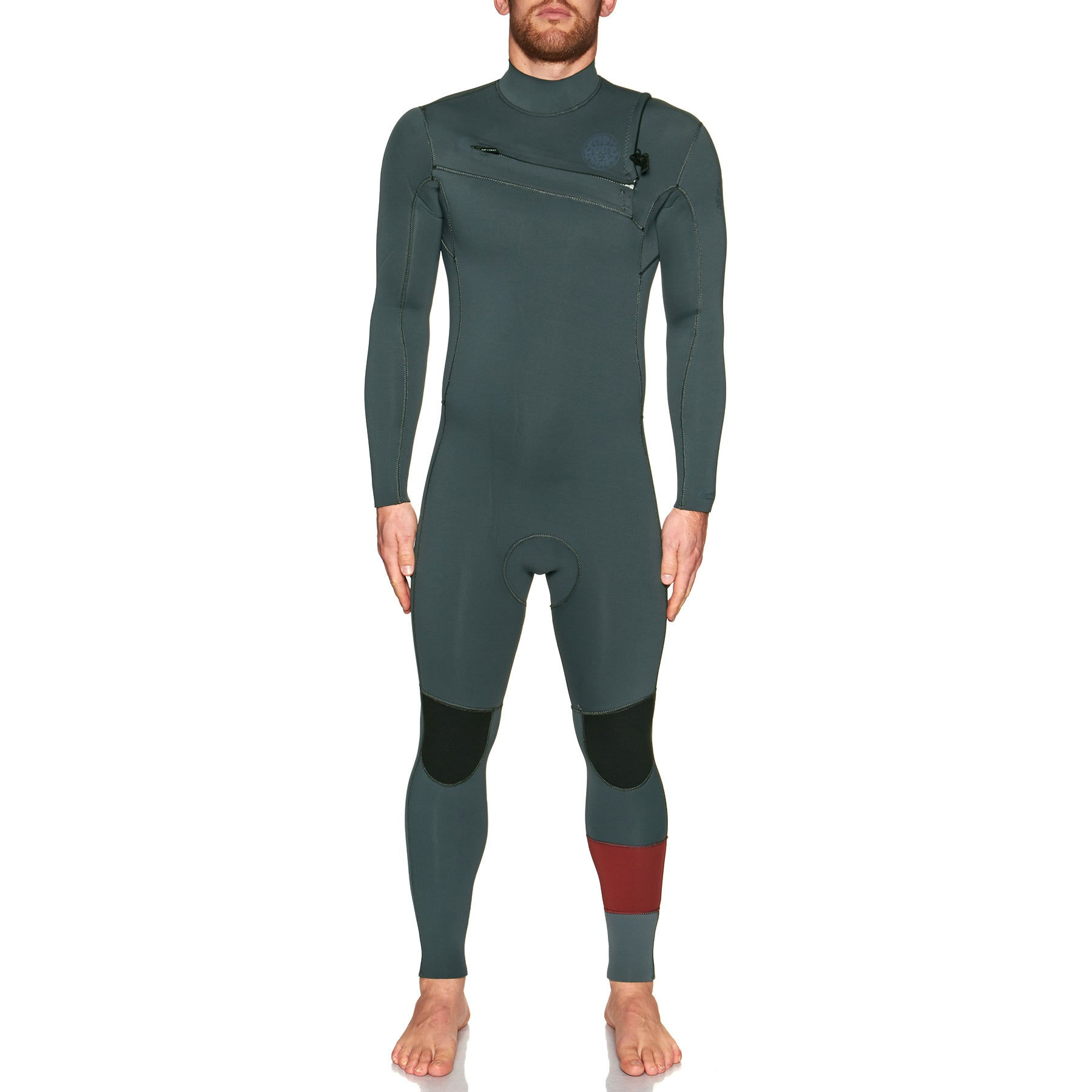 Rip Curl Aggro 4/3mm 2018 Chest Zip Wetsuit - Charcoal