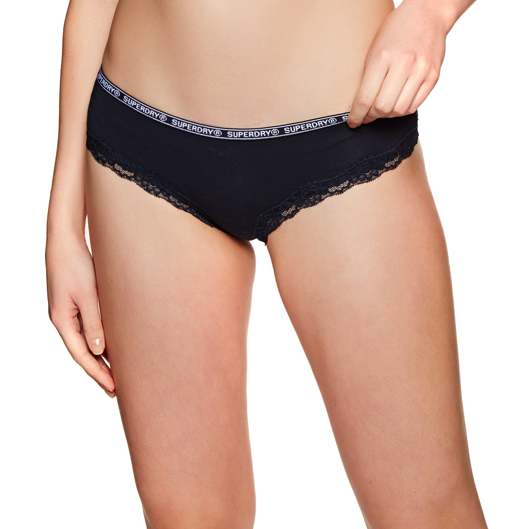 Culotte Femme Superdry Lolalace Brief Triple Pack - White Pink Navy